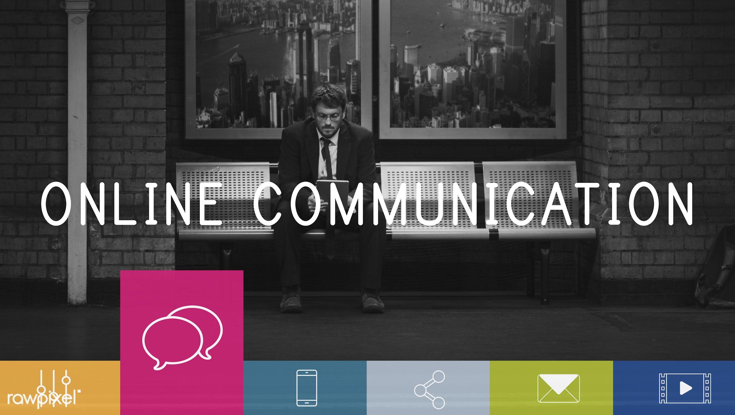 bubble chat, business, businessmen, button, chat, communication, community, connect, connection, data, device, digital,...