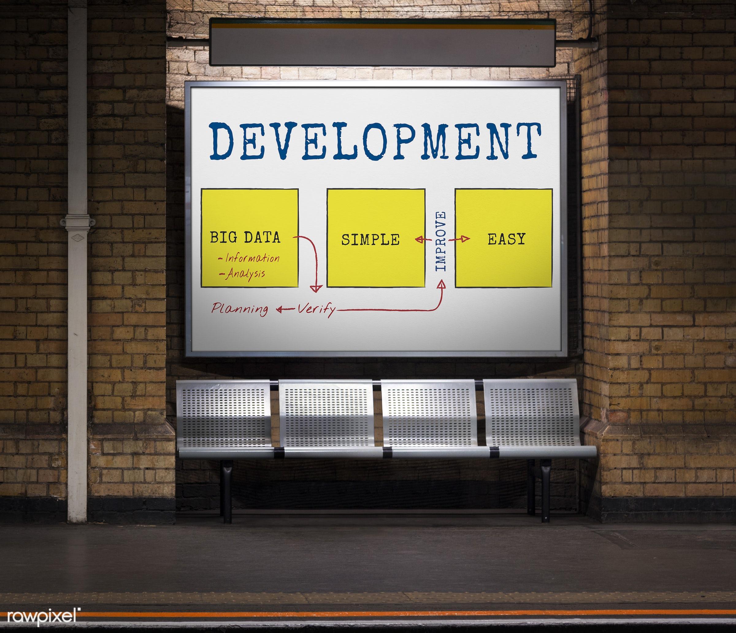 big data, bricks, brickswall, chart, cloud, data, development, diagram, easy, efficiency, icon, improve, information,...