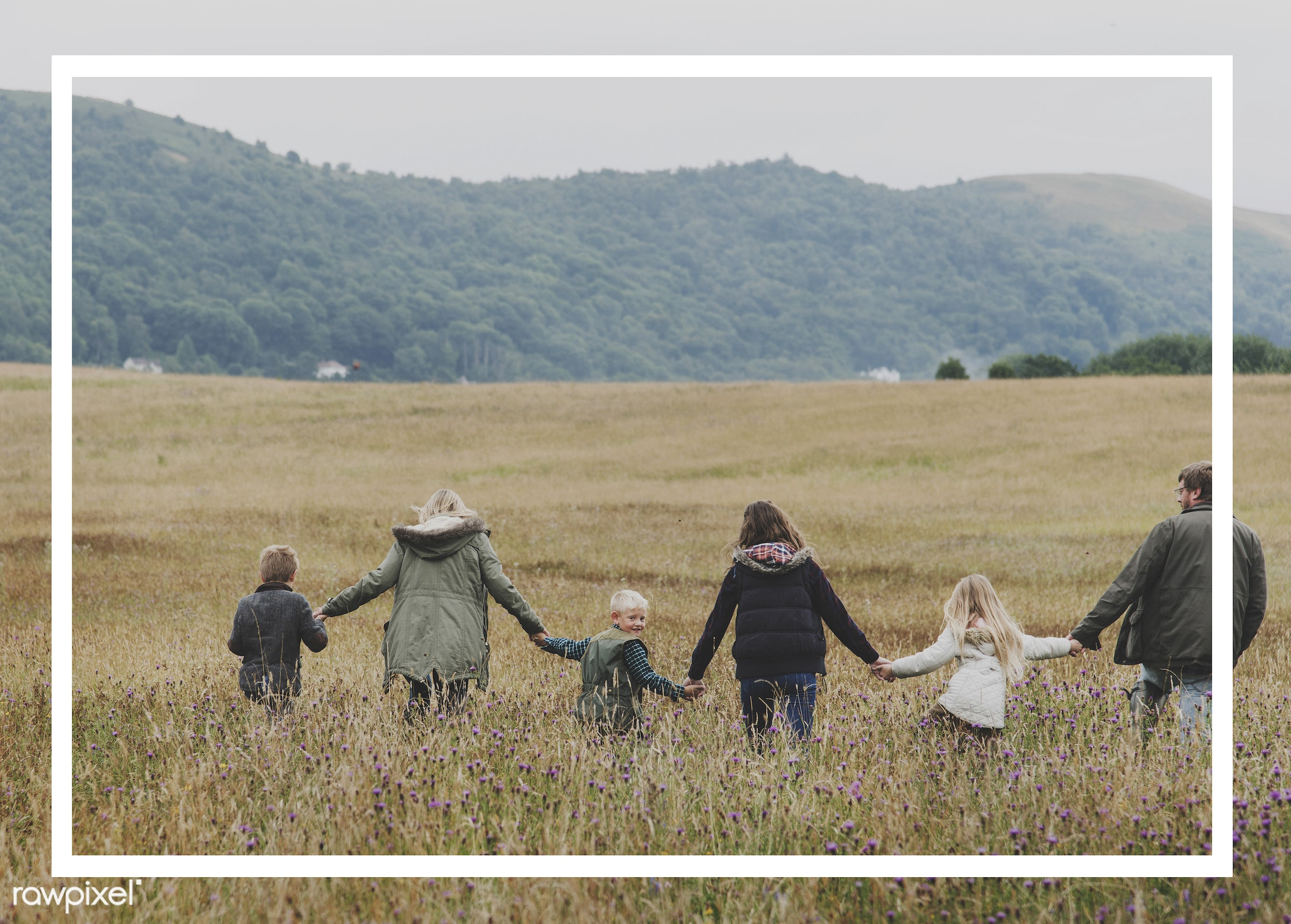 family, mother, field, border, father, son, adult, blank, box, caucasian, dad, daughters, frame, framework, hands, happiness...