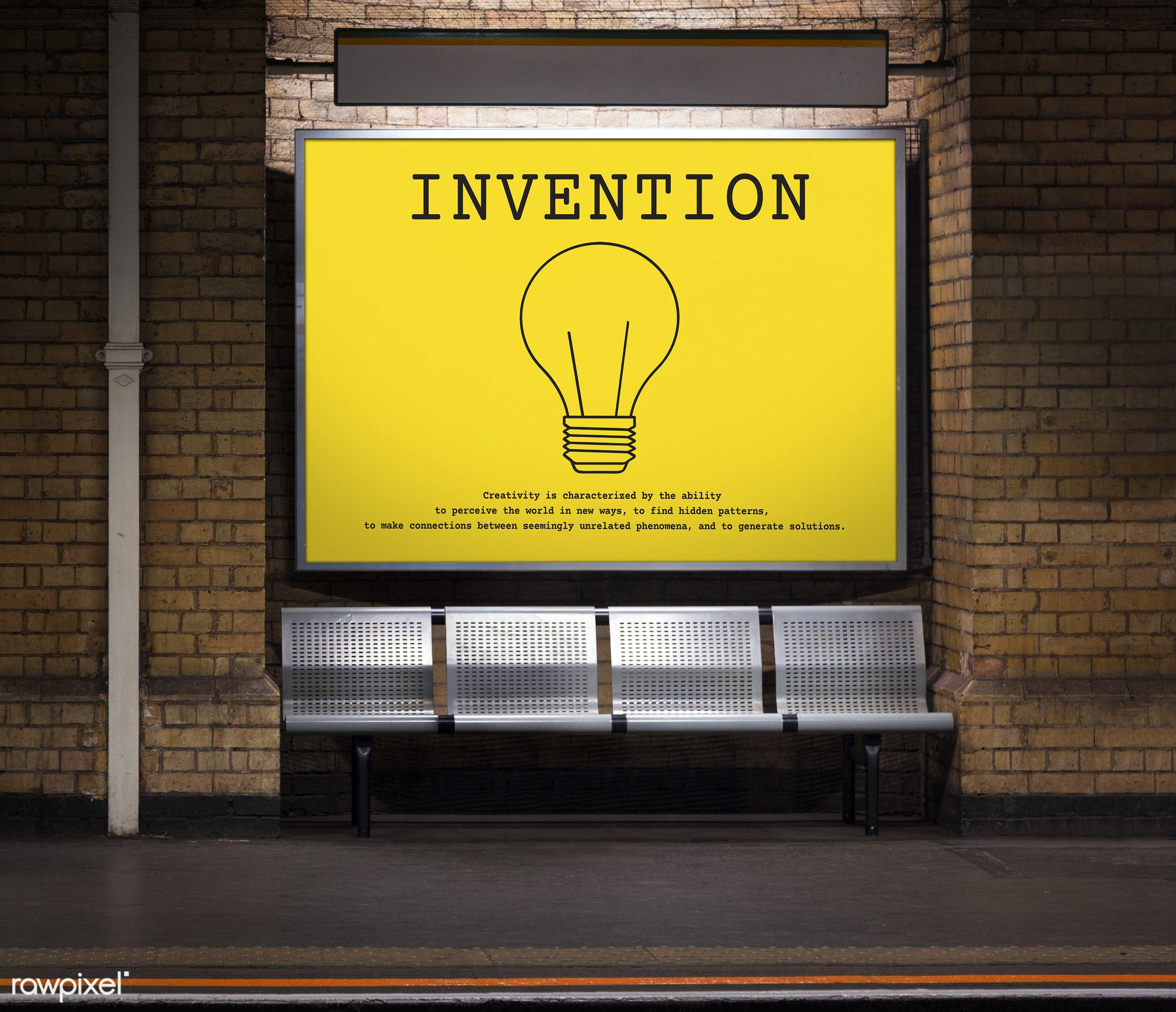 be inspired, bricks, brickswall, bulb, concept, creative, creativity, design, fresh, ideas, imagination, innovate, insight,...
