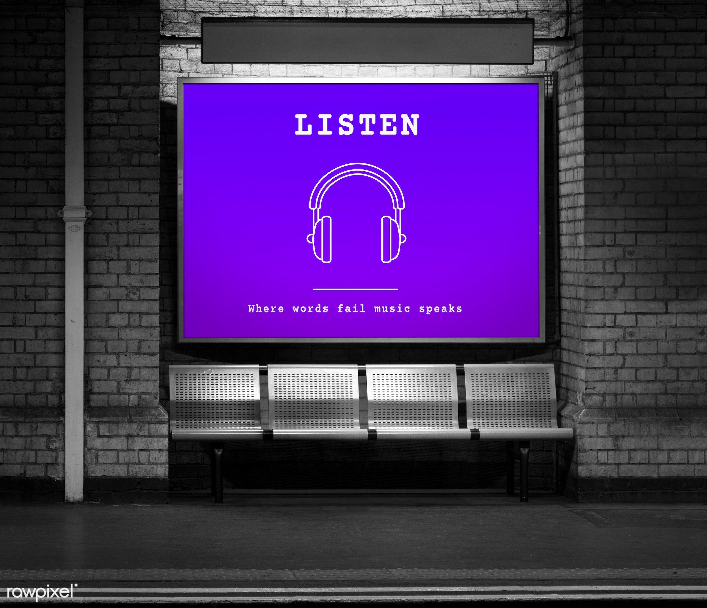 apps, audio, bricks, brickswall, broadcast, devices, entertainment, graphic, harmony, headphones, icon, listen, media, music...