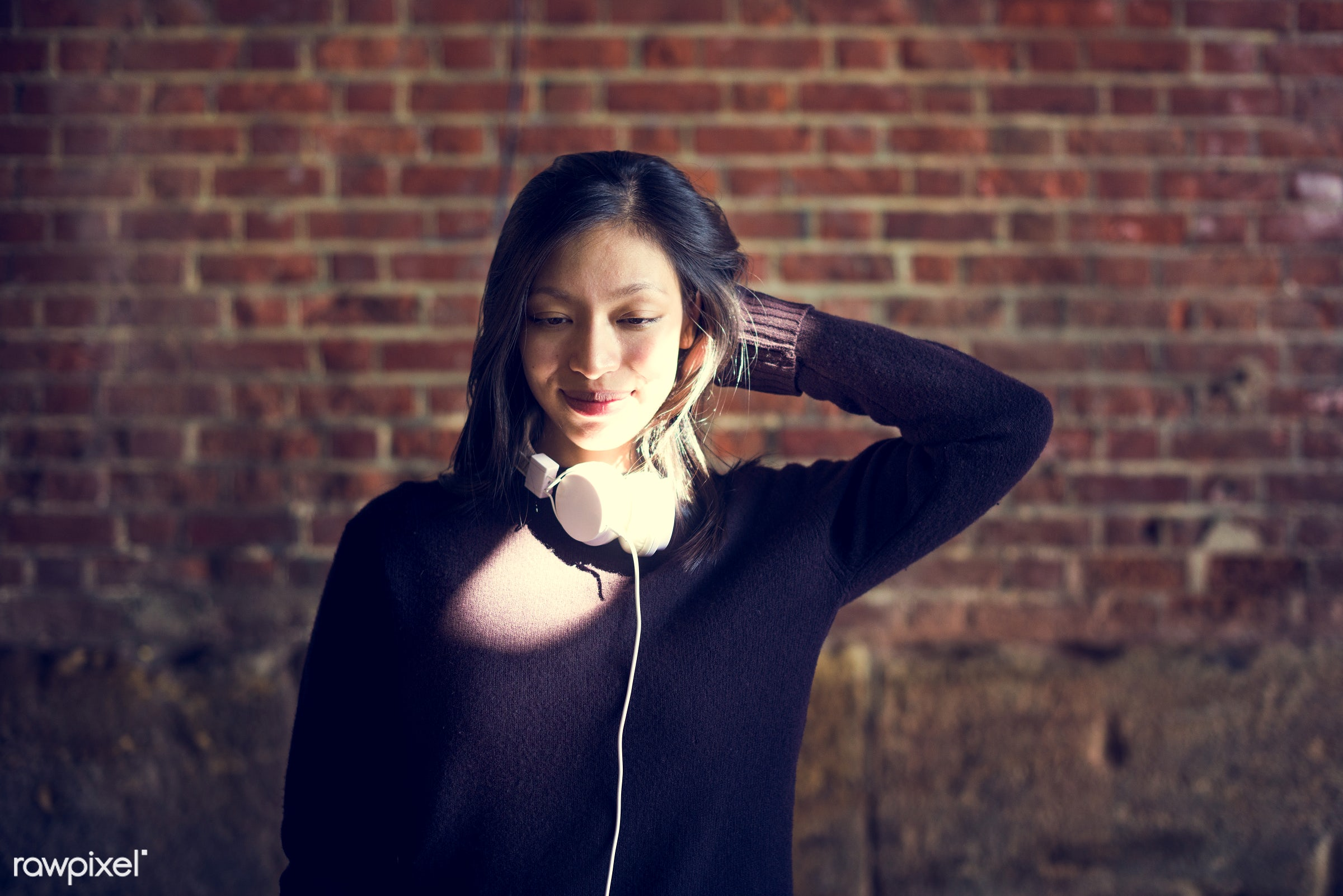 asian ethnicity, attractive, beautiful, beauty, candid, casual, cheerful, city, device, female, femininity, gadget, girl,...