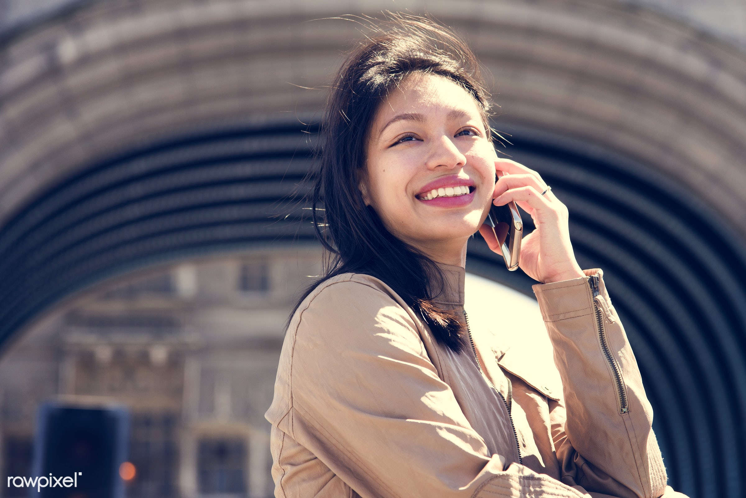 asian ethnicity, attractive, beautiful, beauty, call, calling, candid, casual, cheerful, city, conversation, device, female...
