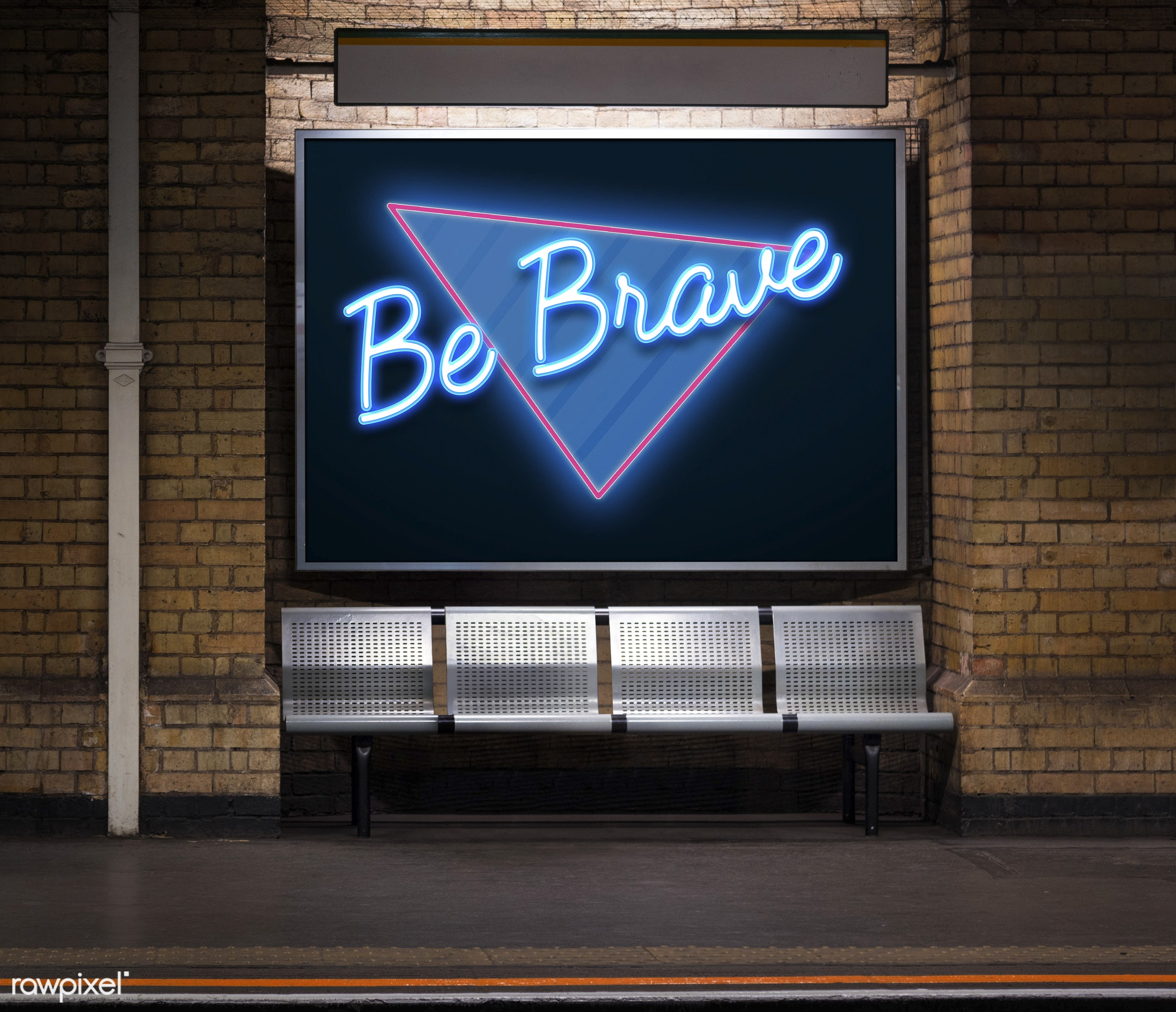 brave, bravery, bricks, brickswall, graphic, handwritten, inspiration, inspirational, inspire, kind, message, motivate,...