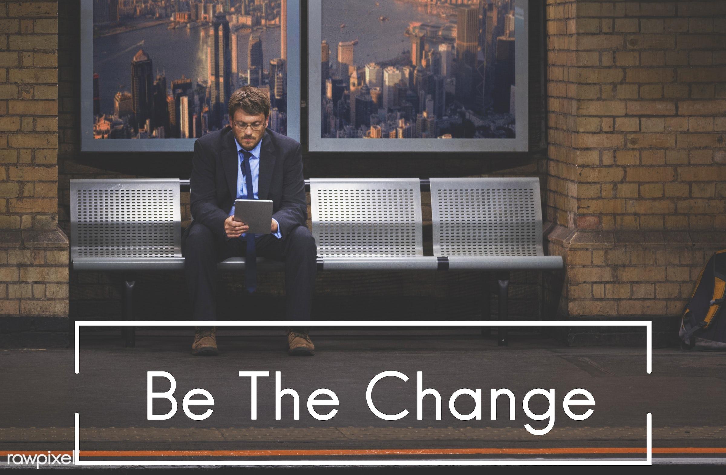aspiration, be the change, business, businessmen, change, choice, creativity, development, device, different, digital,...
