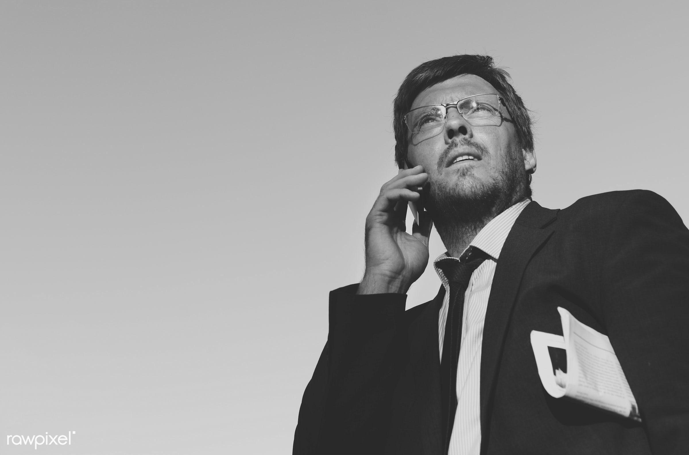 Businessman on the phone - adult, aspirations, business, businessman, call, calling, caucasian, city, communication,...