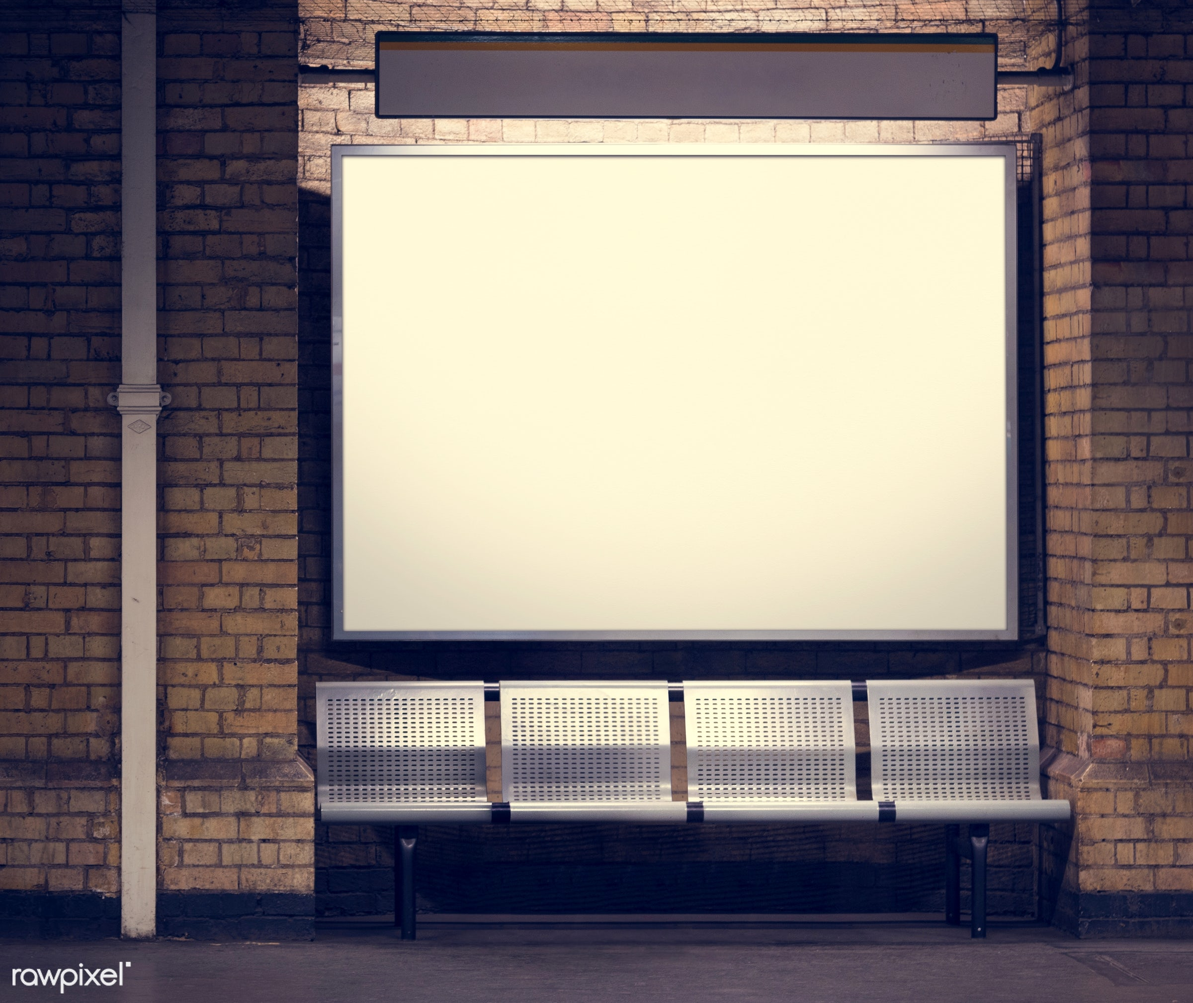 ad, advertisement, advertising, background, banner, bench, billboard, blank, board, business, city, commercial, construction...