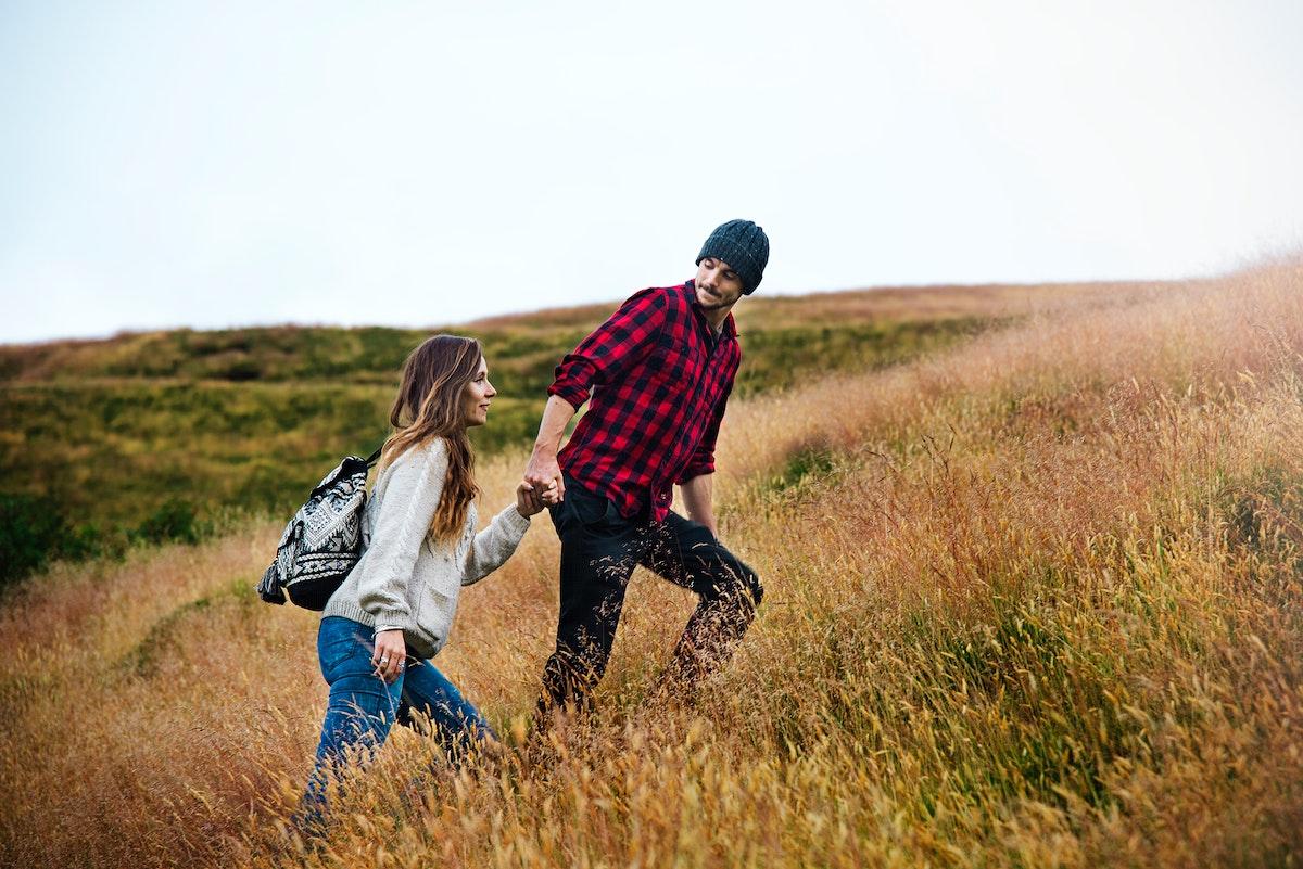 Friends exploring and enjoying nature shoot