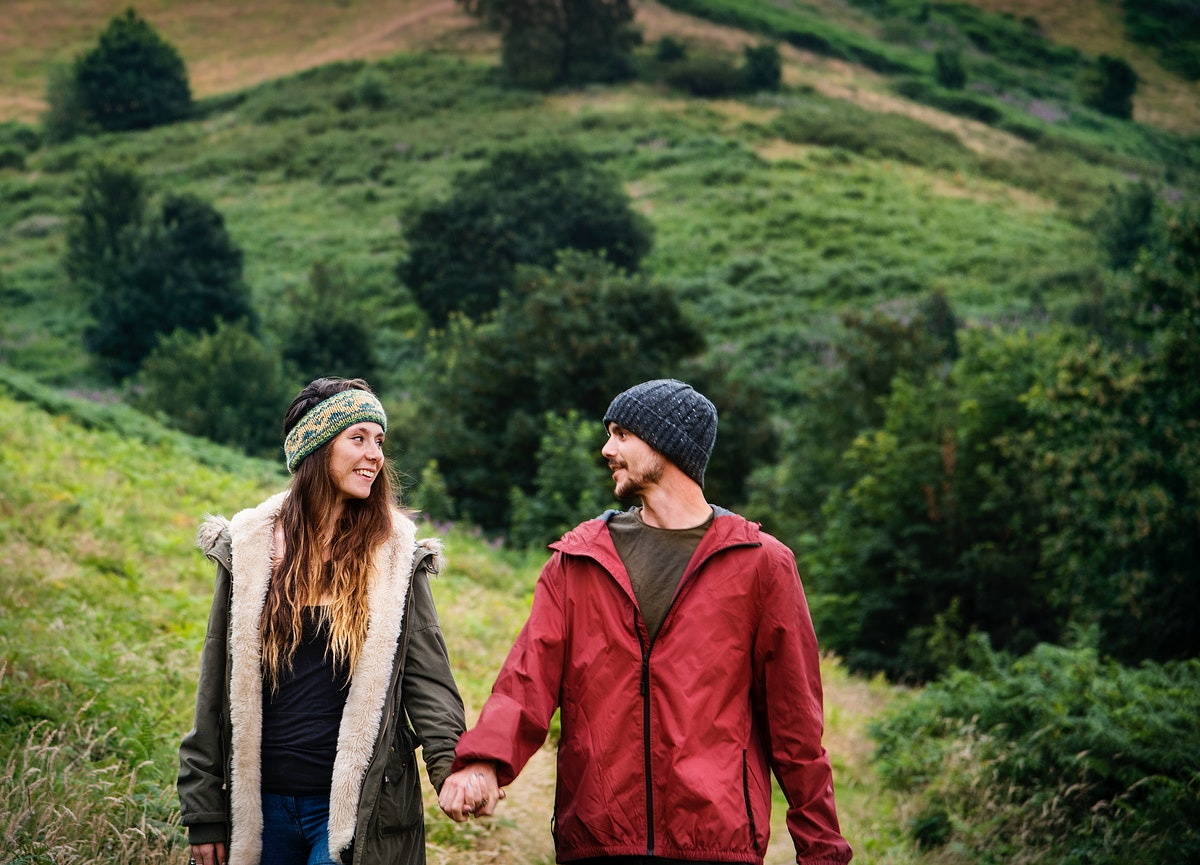 Couple enjoy the nature together