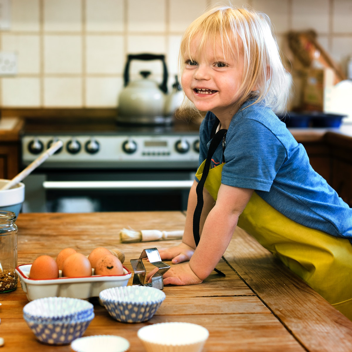 Kid Cooking Class Baking Concept