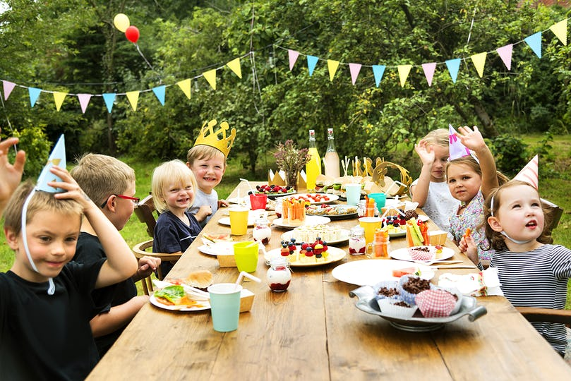Kids enjoying party in the garden
