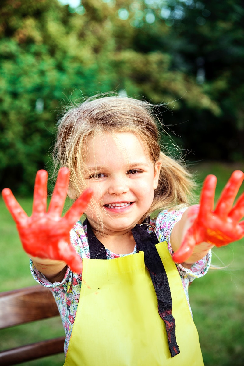 Girl Painting Artist School Concept