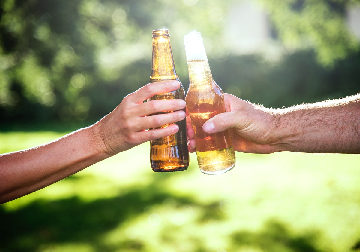Cheers Beer Alcohol Celebration Outdoors Toast Concept