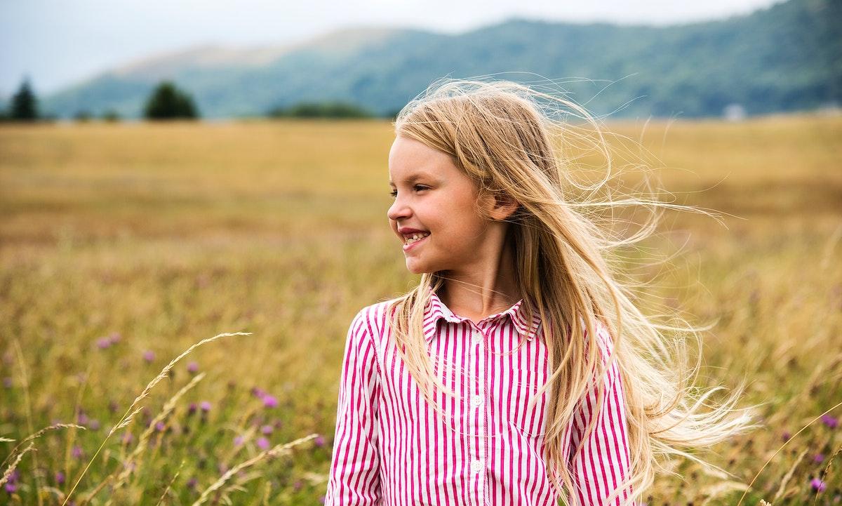 Young girl enjoying the nature