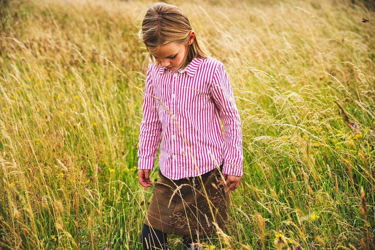 Young girl enjoy the nature