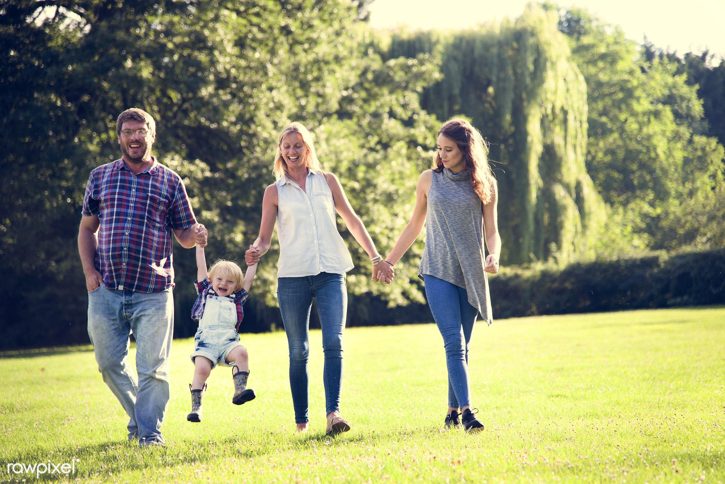 bonding, boy, care, casual, cheerful, childhood, children, enjoyment, environment, environmental, family, father, field,...