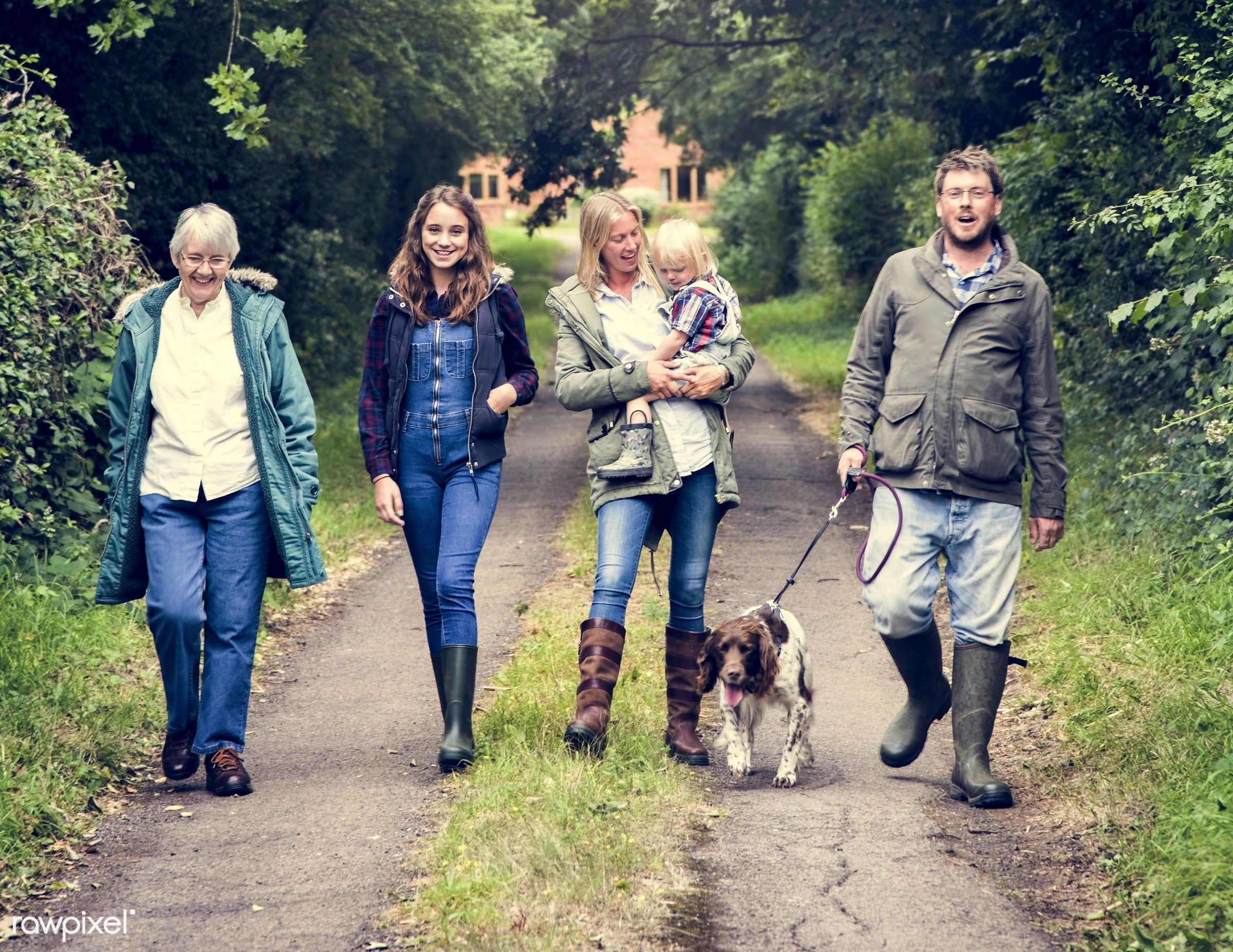 bonding, care, casual, cheerful, childhood, children, cocker spaniel, daughter, dog, enjoyment, environmental, family,...