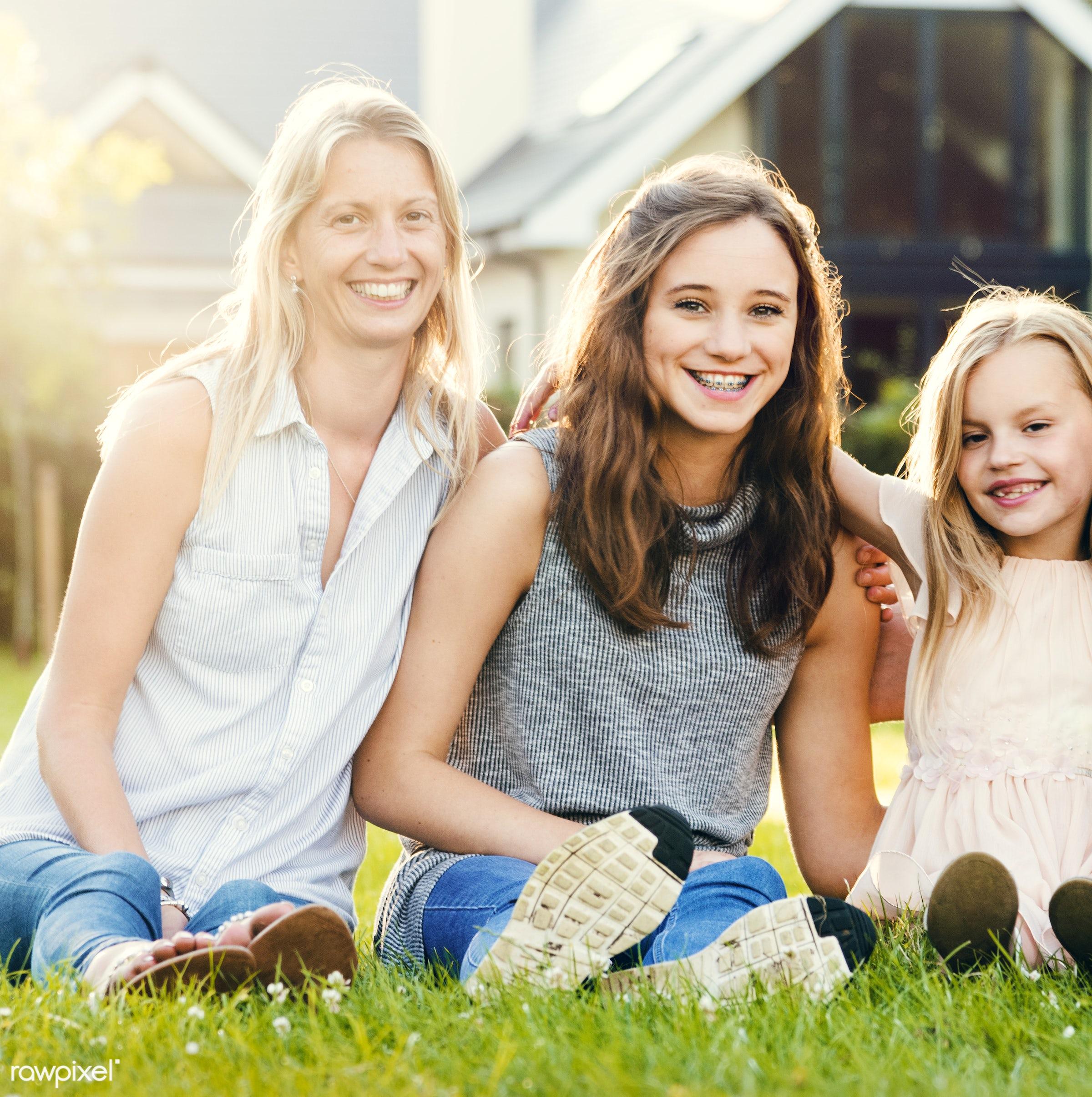 bonding, care, casual, cheerful, childhood, children, daughter, enjoyment, environmental, family, field, fun, garden,...