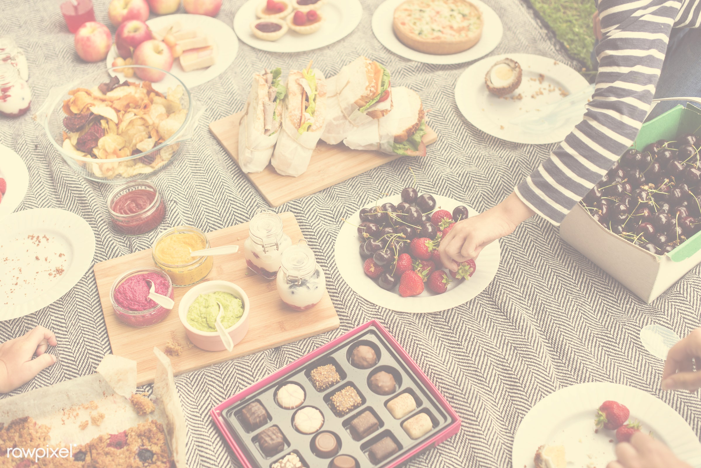 apple, basket, cherry, chips, dessert, drinks, environment, environmental, field, food, fruit, garden, grass, hands, holiday...