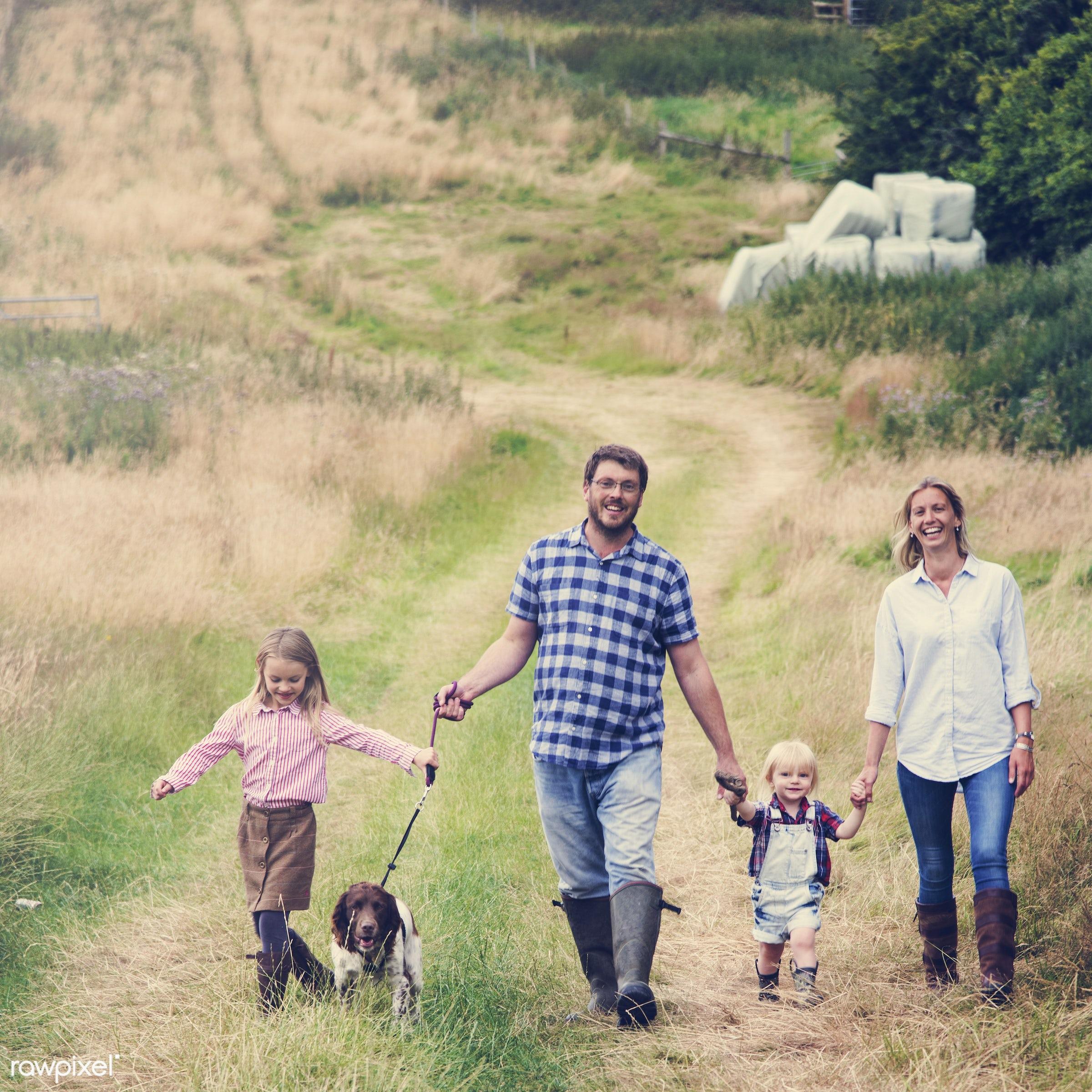 bonding, boy, care, casual, cheerful, childhood, children, cocker spaniel, daughter, dog, enjoyment, environmental, family,...