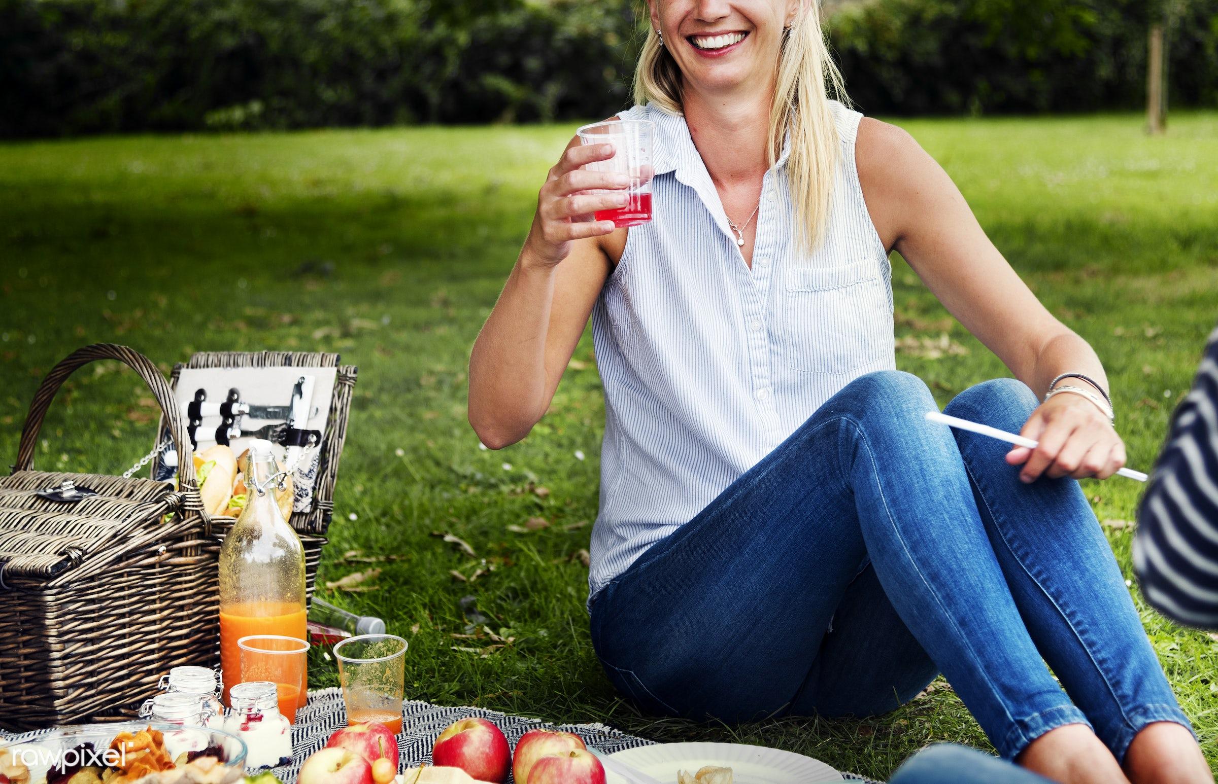 apple, basket, casual, cheerful, drinks, enjoyment, environmental, field, food, fruit, fun, garden, grass, happiness,...