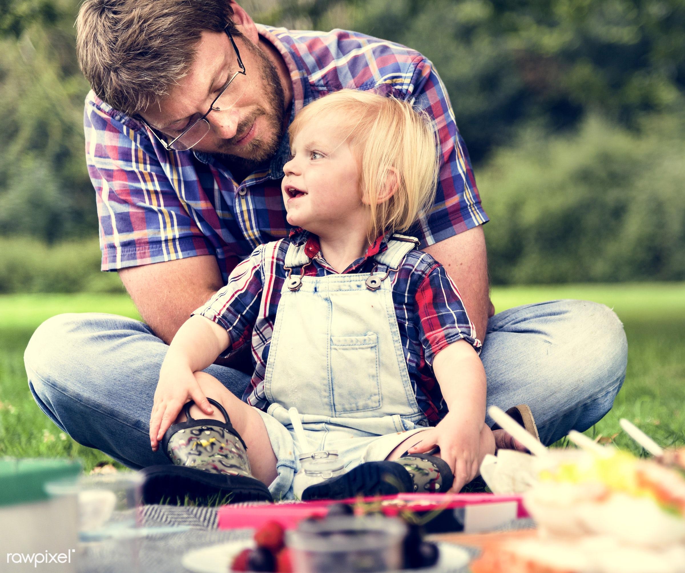 bonding, boy, care, casual, cheerful, child, childhood, enjoyment, environmental, family, father, field, food, fun, garden,...