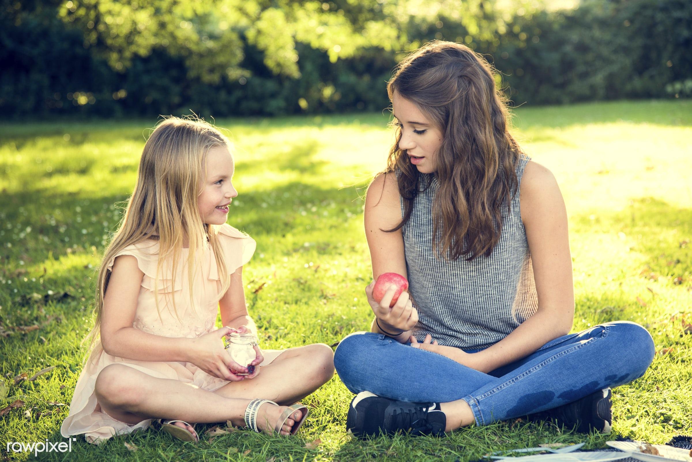 apple, bonding, care, casual, cheerful, childhood, children, enjoyment, environmental, family, field, food, fruit, fun,...