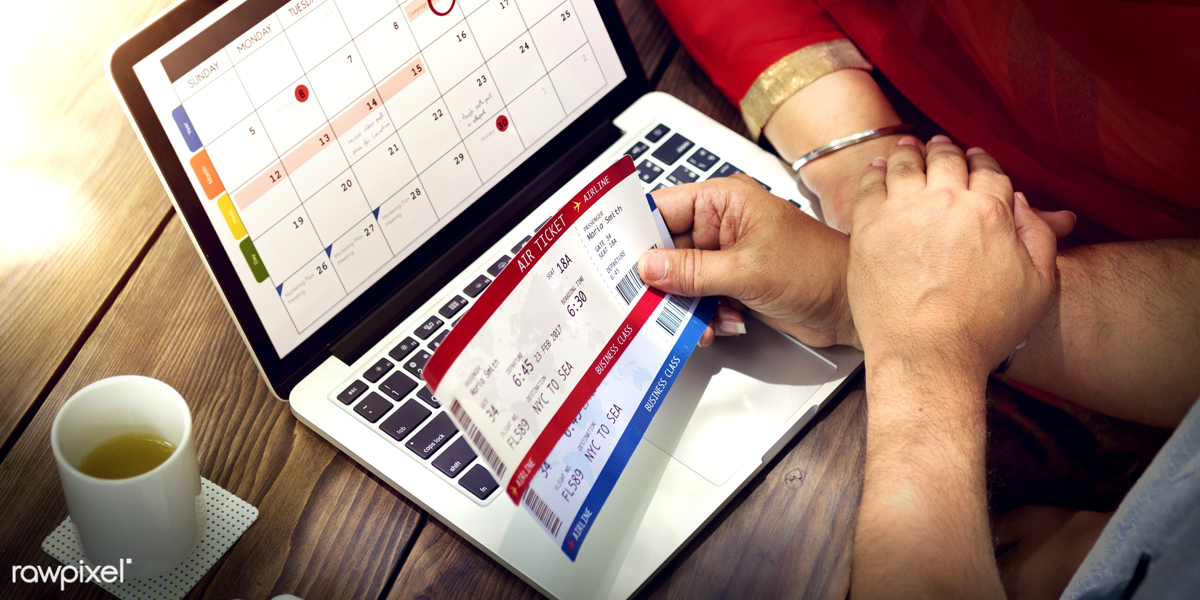 Indian Couple Using Device Concept - adult, booking, calendar, call, care, cheerful, communication, connection, couple,...