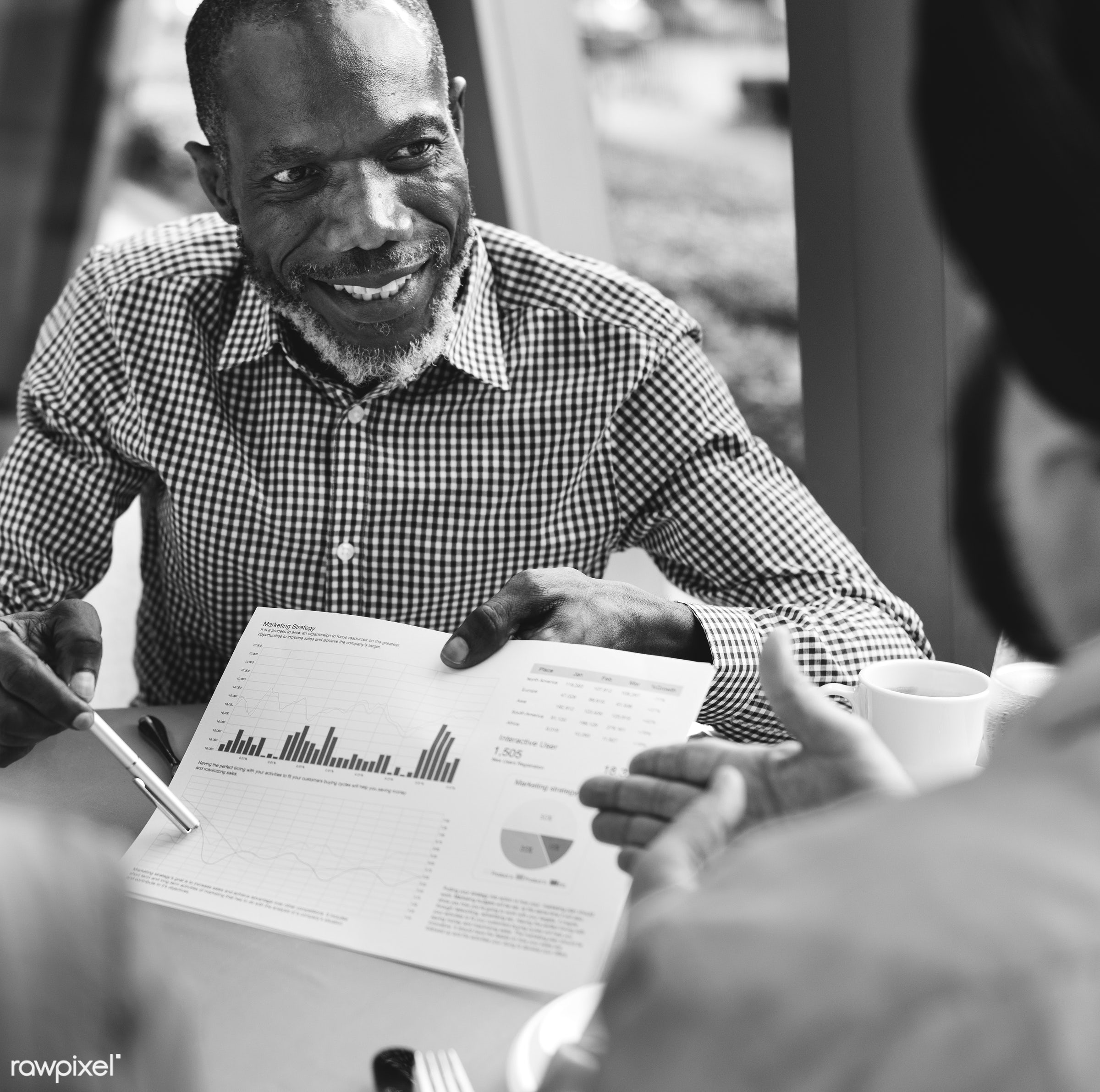 adult, african, asian, beverage, business, chart, cheerful, colleagues, communication, conference, corporate, data, diagram...