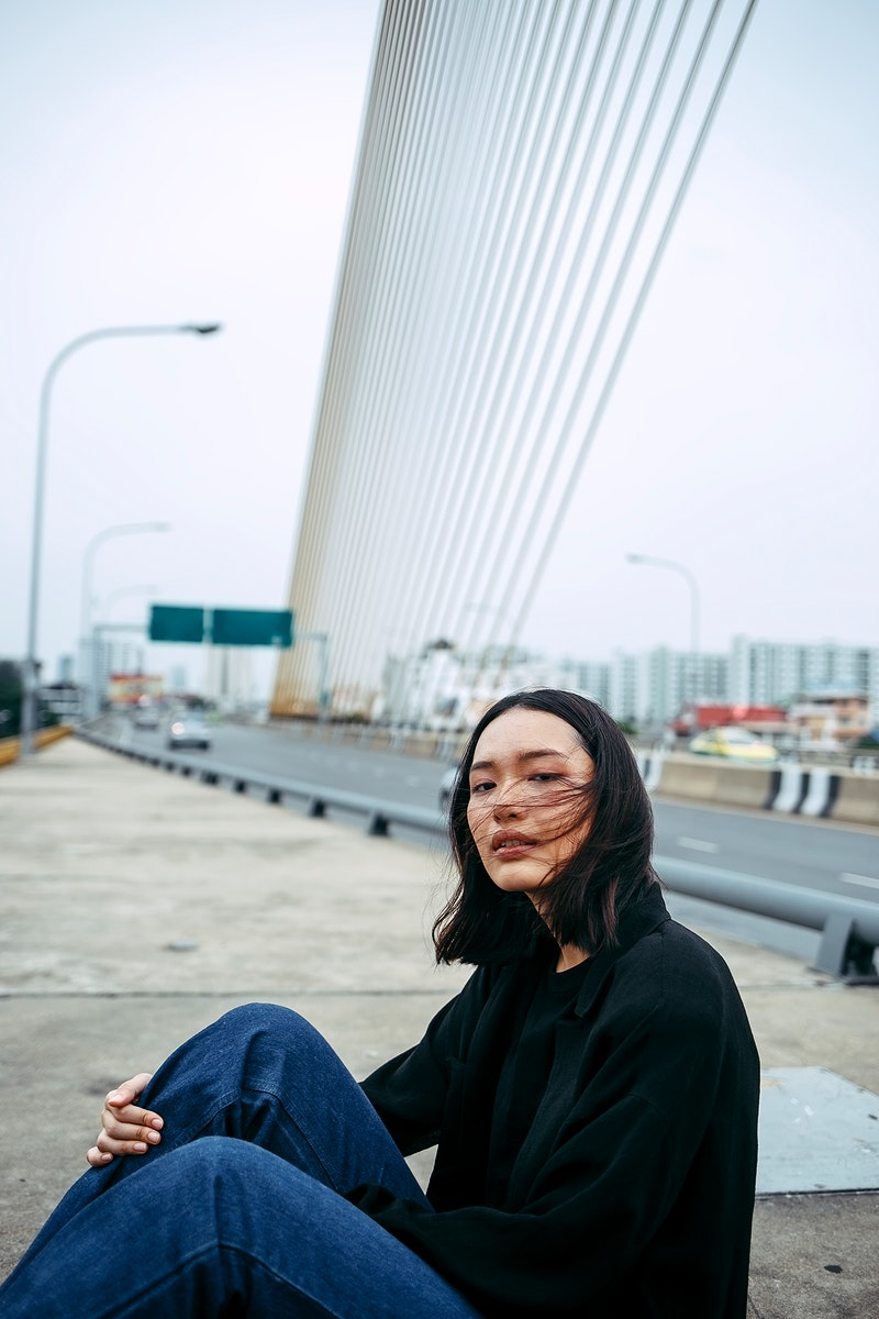 Asian woman in the city