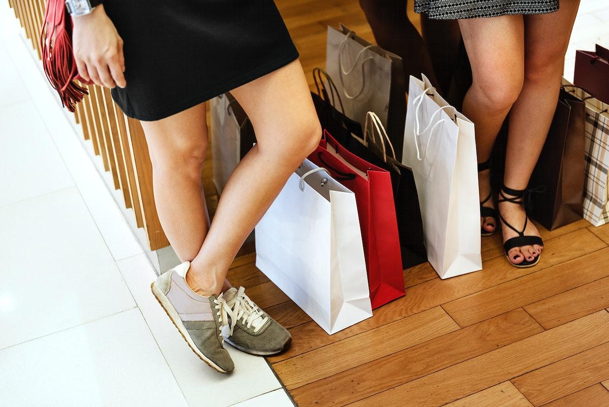 Girlfriends going shopping