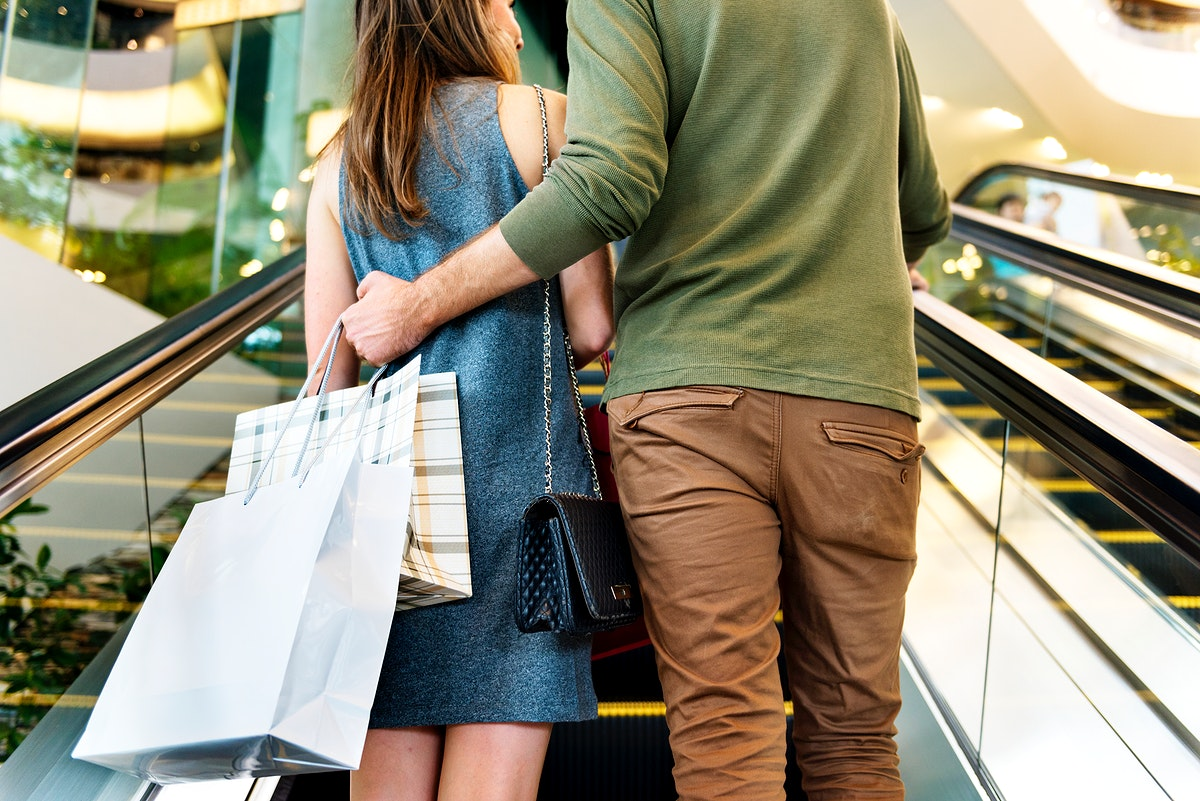 A couple going shopping together