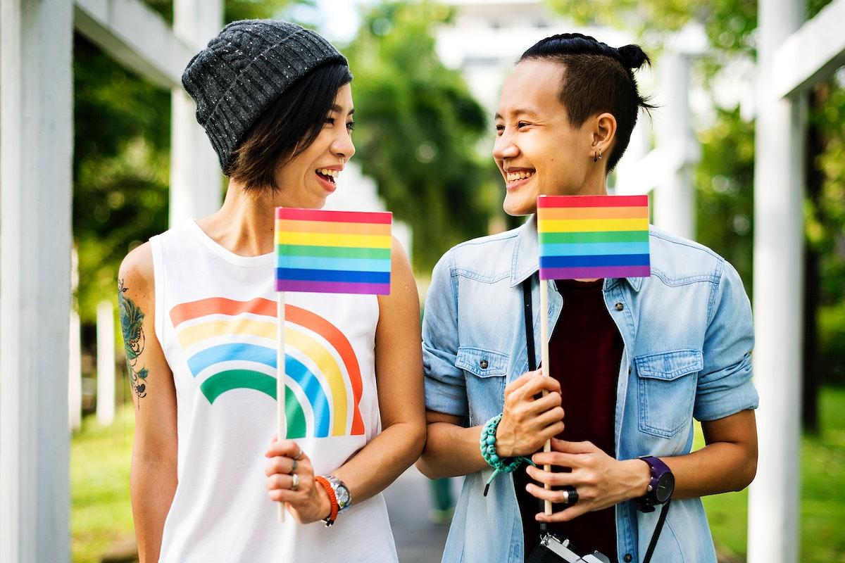 LGBT asian lesbian couple