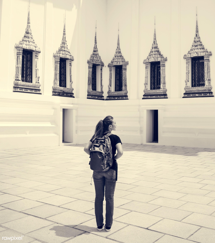 Young  - activity, adventure, ancient, architecture, asia, bangkok, buddha, buddhism, buddhist, capital, casual, destination...