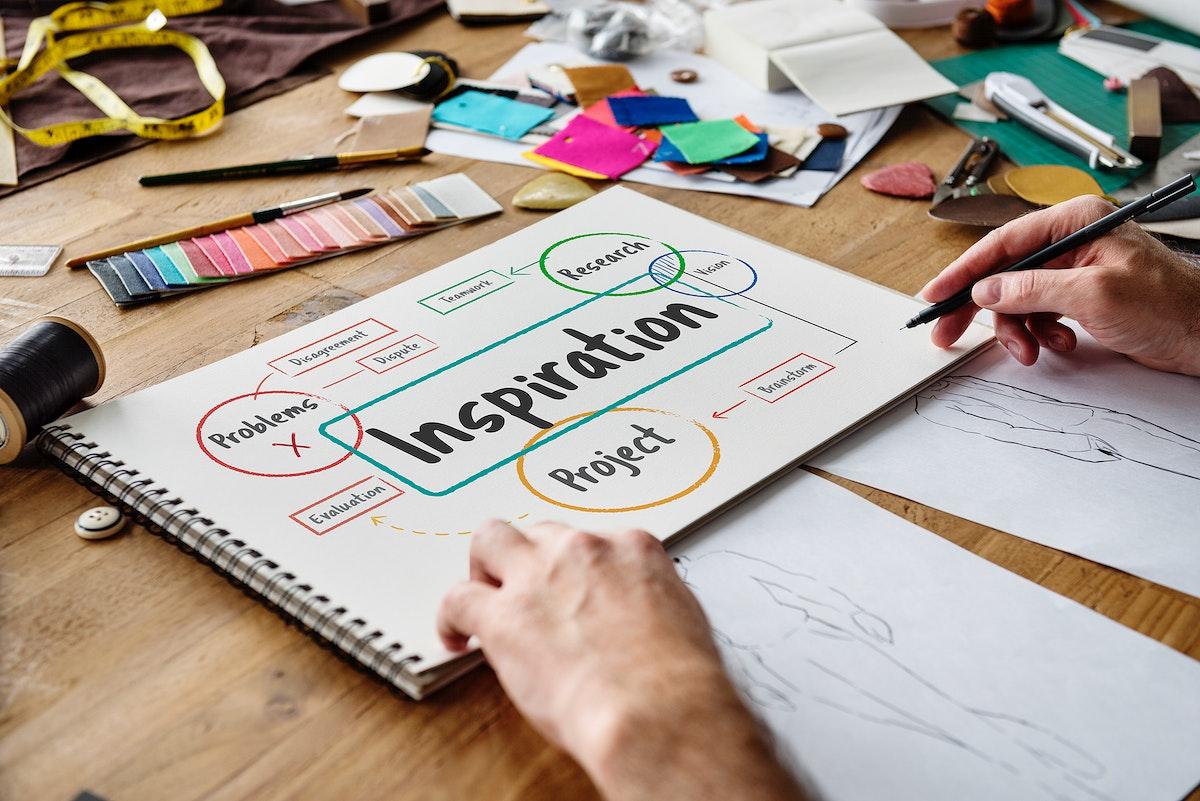 Fashion designer working on a design