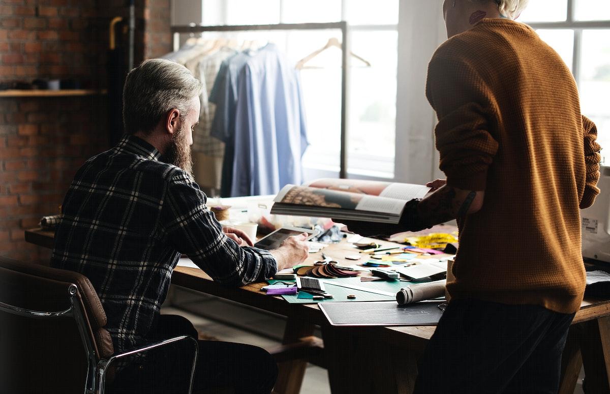 Fashion designers working together