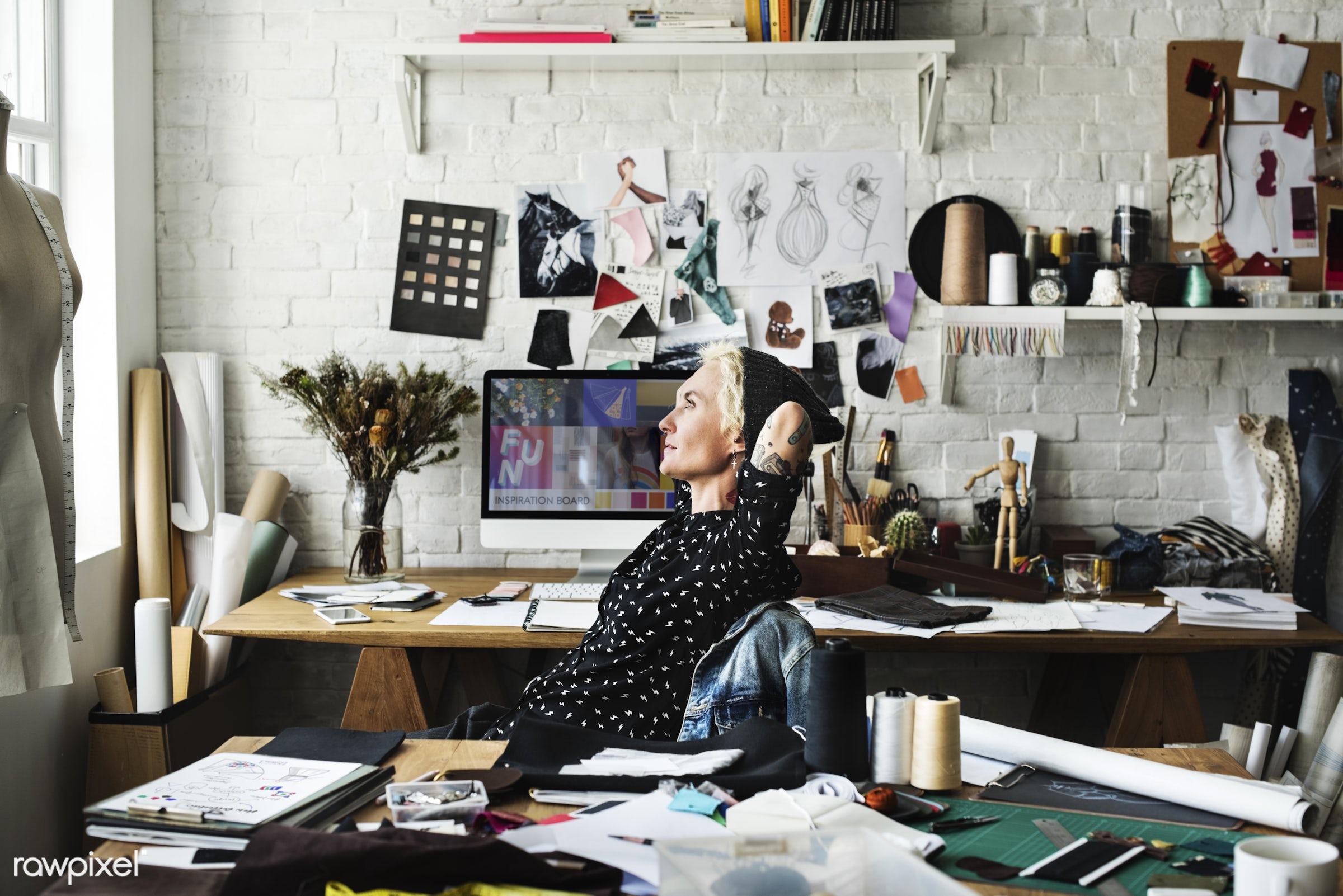 studio, craft, fashion, measure, clothing, handicraft, dressmaker, trendy, stylist, creativity, inspiration, style, cloth,...