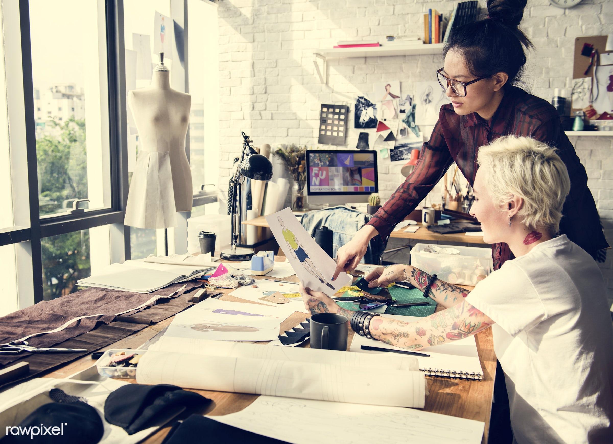 studio, craft, fashion, measure, clothing, handicraft, dressmaker, trendy, stylist, mannequin, creativity, inspiration,...