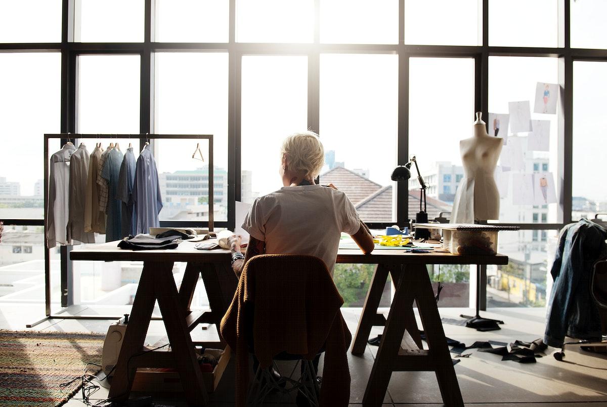 Fashion designer working in a studio