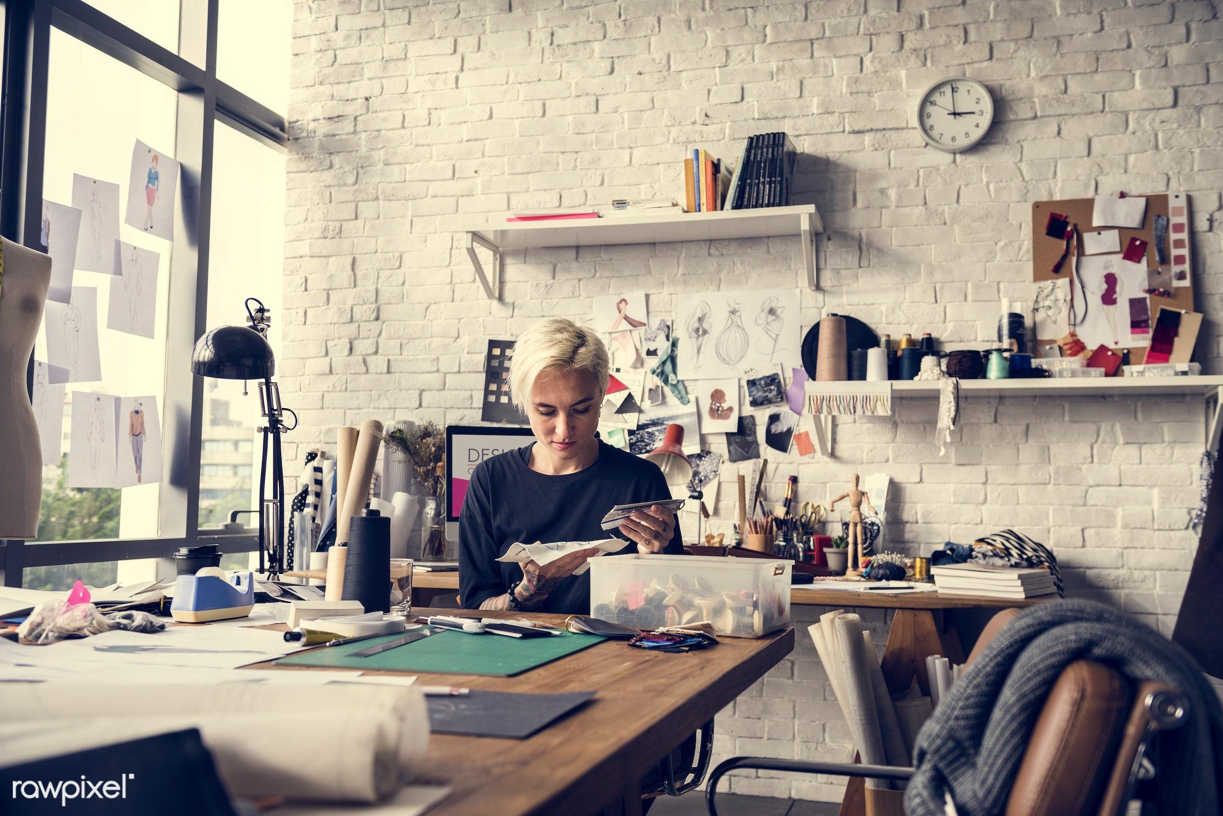 studio, fashion, craft, measure, clothing, handicraft, dressmaker, trendy, stylist, creativity, style, cloth, stylish,...