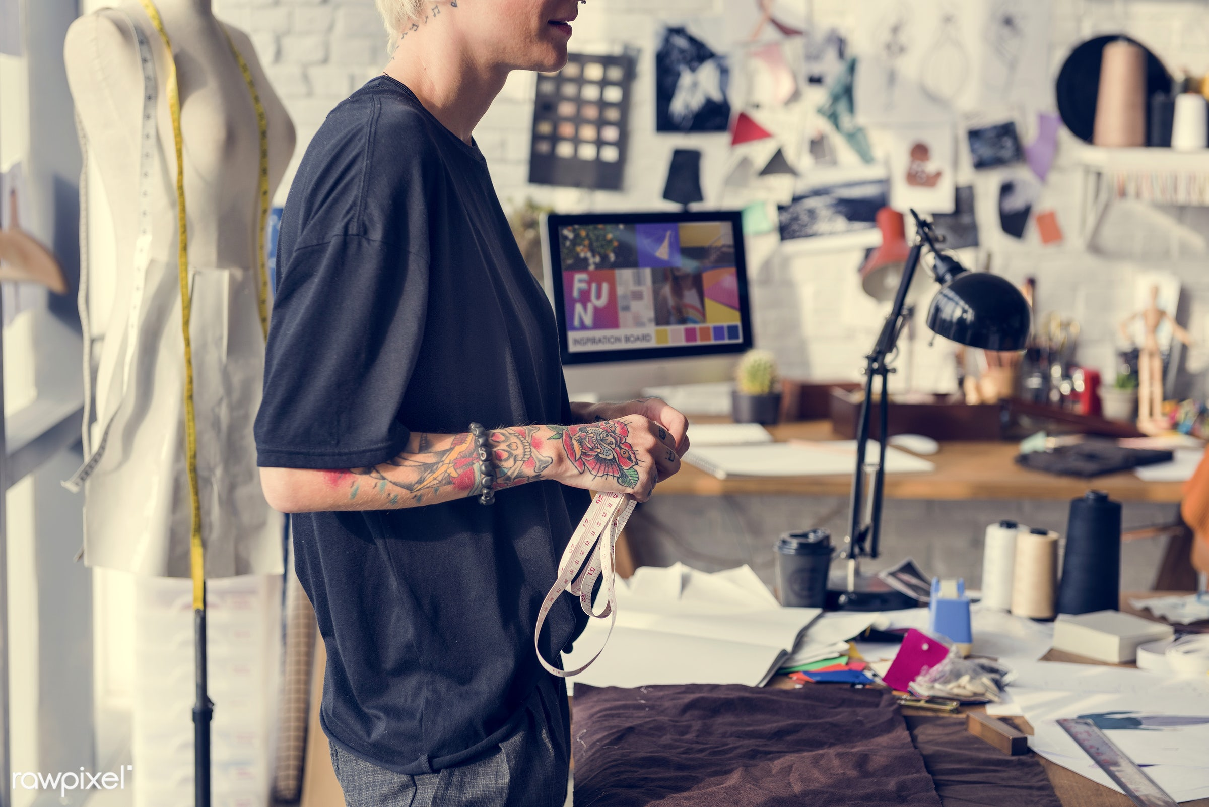 studio, fashion, craft, measure, clothing, handicraft, dressmaker, trendy, stylist, mannequin, creativity, inspiration,...