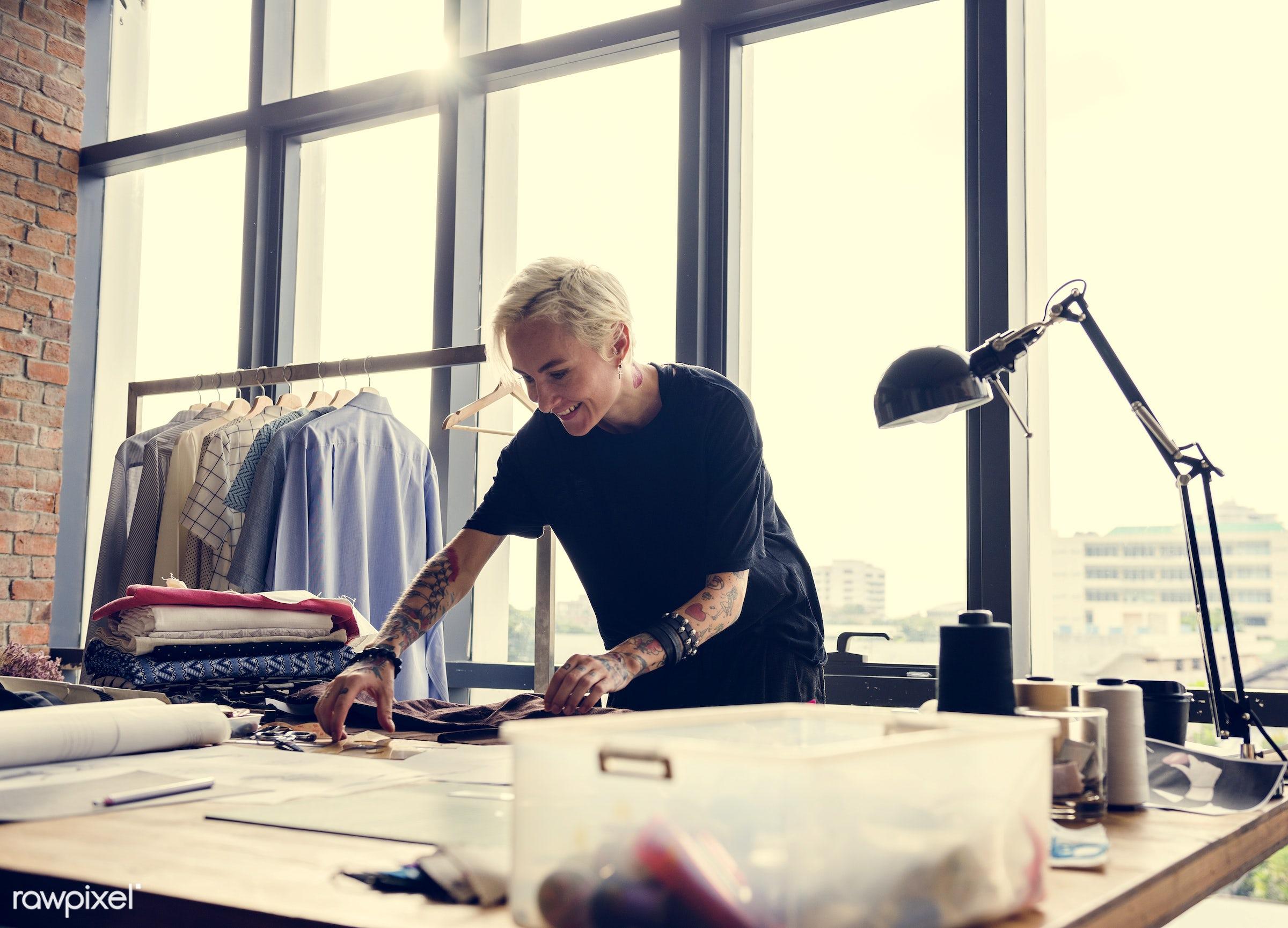 fashion, model, measure, clothing materials, clothing, designing, garment, dressmaker, indoors, trendy, selecting,...