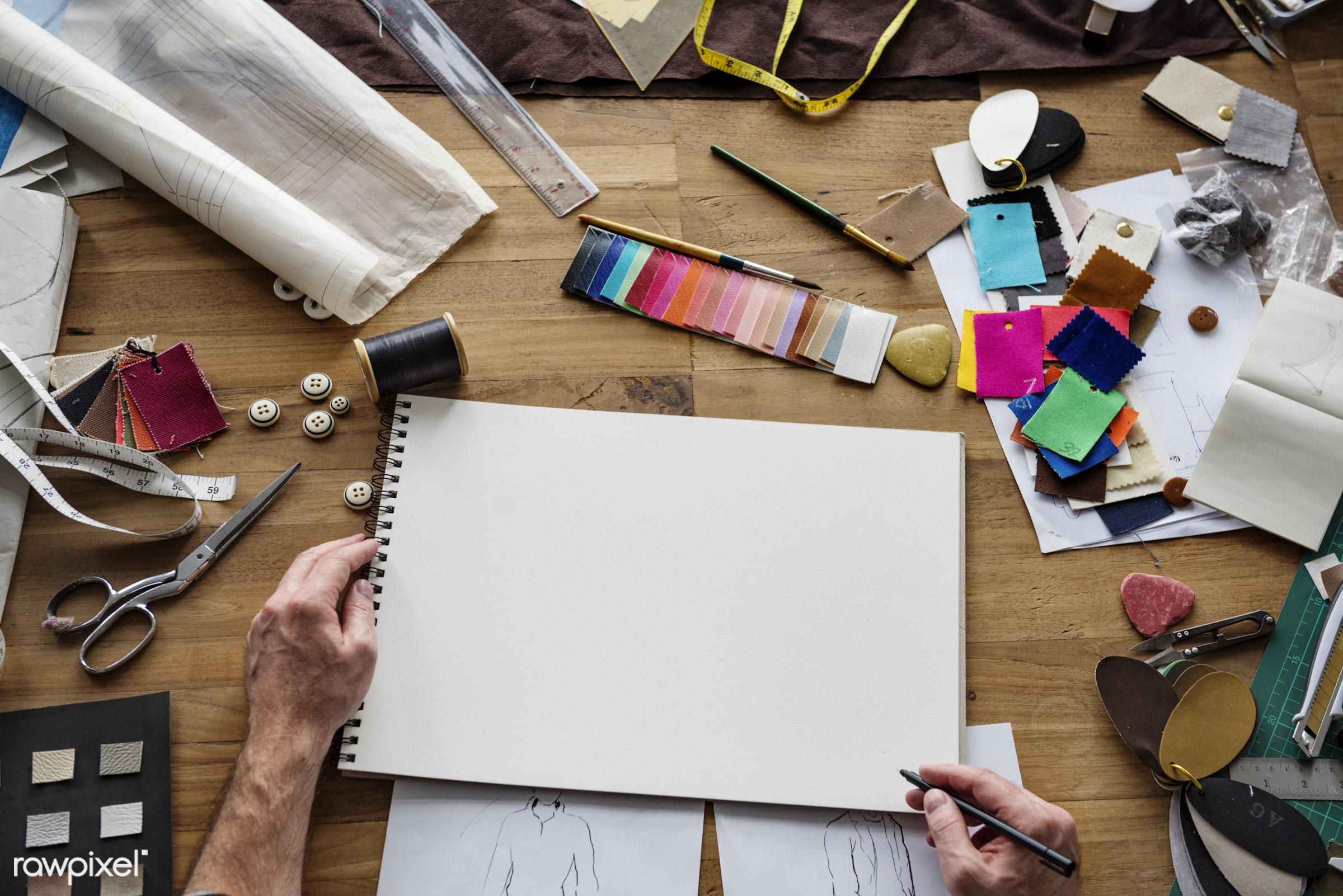 cloth, clothes, clothing, copy space, copyspace, couture, craft, creative, creativity, design, designer, dress, dressmaker,...