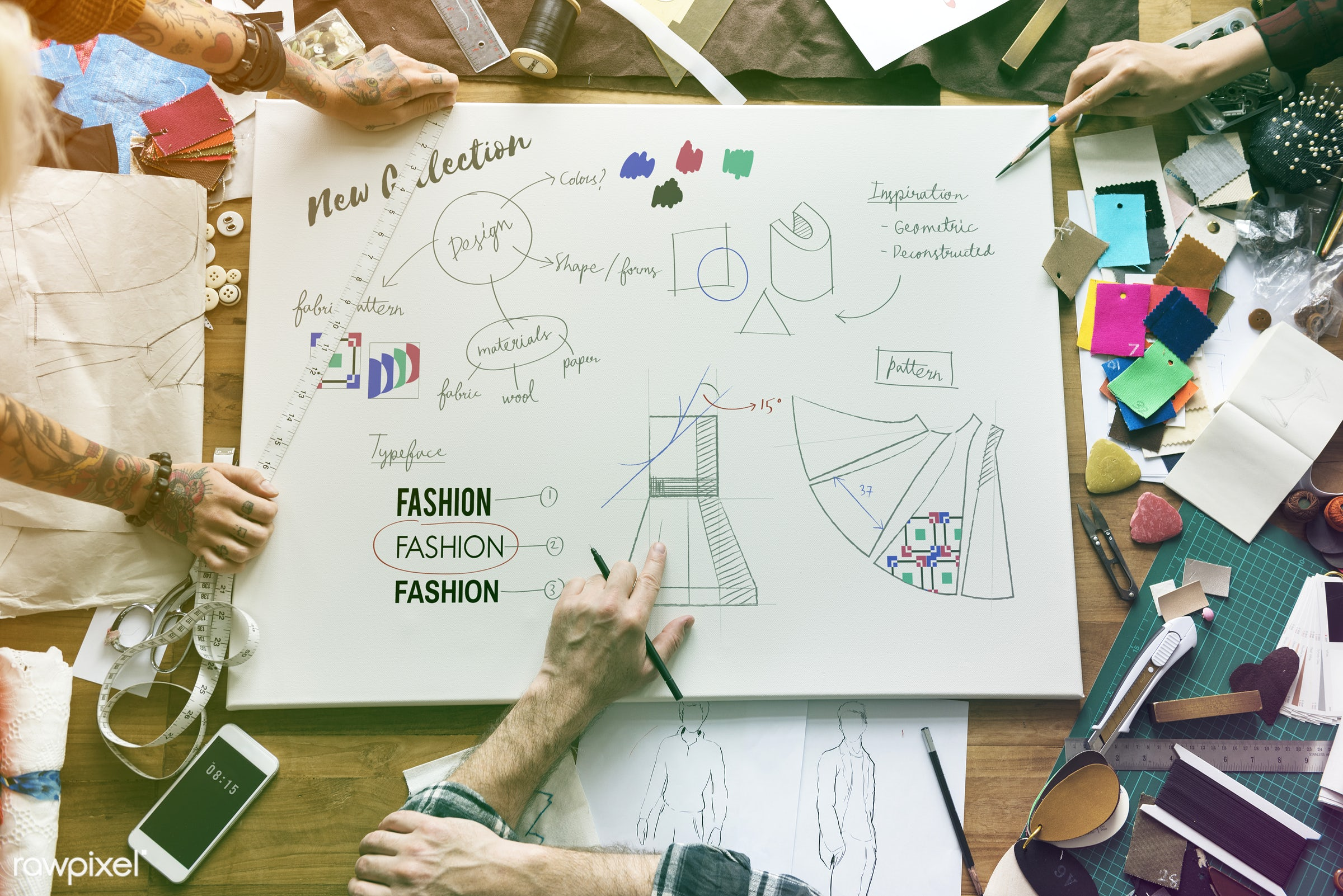manufacturing, faded, design industry, vibrant, decor, draw, designers, light, shirt, work, workshop, fashion designing,...