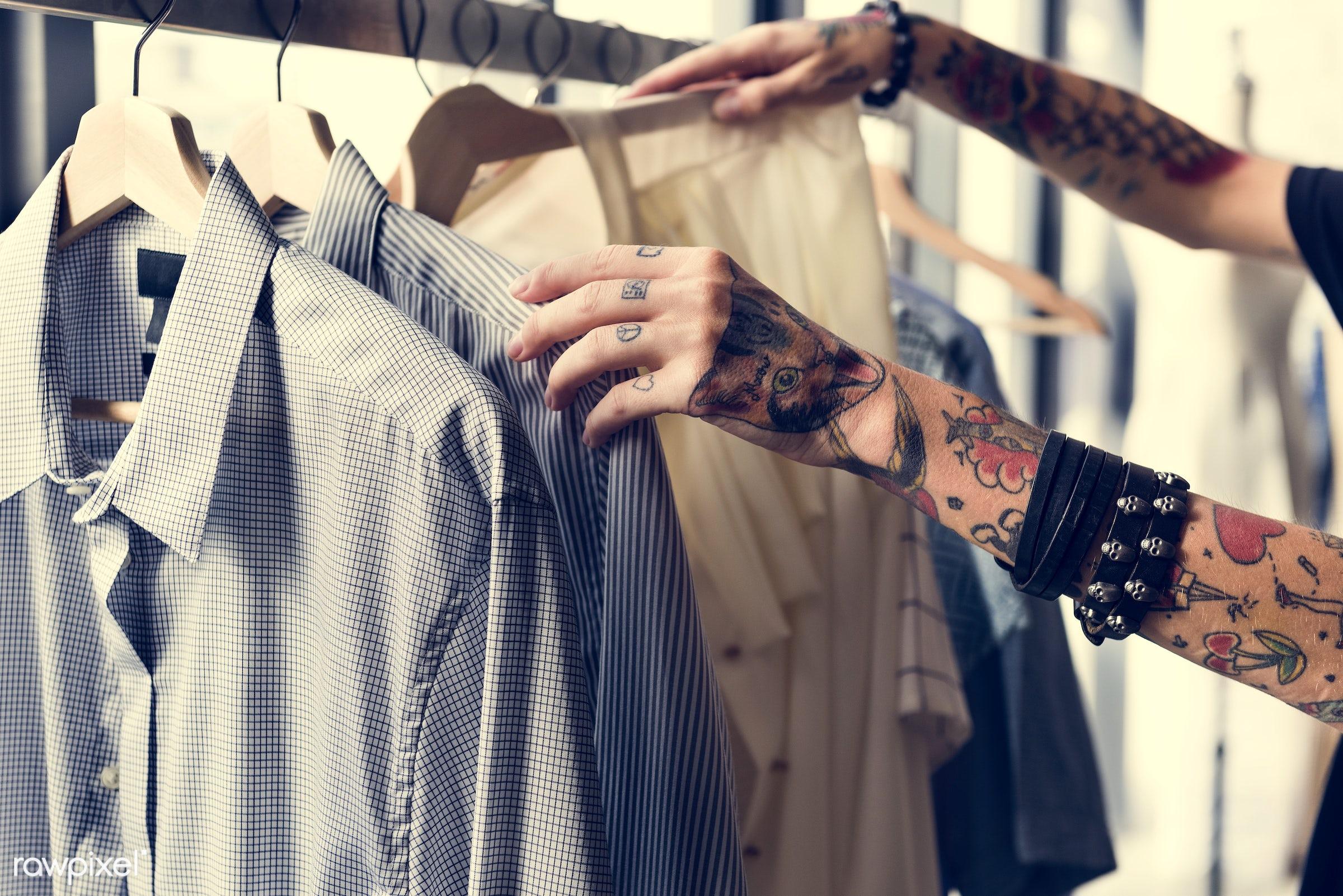 studio, coat hook, fashion, store, clothing, handicraft, garment, outfit, dressmaker, stylist, closet, collection, rack,...