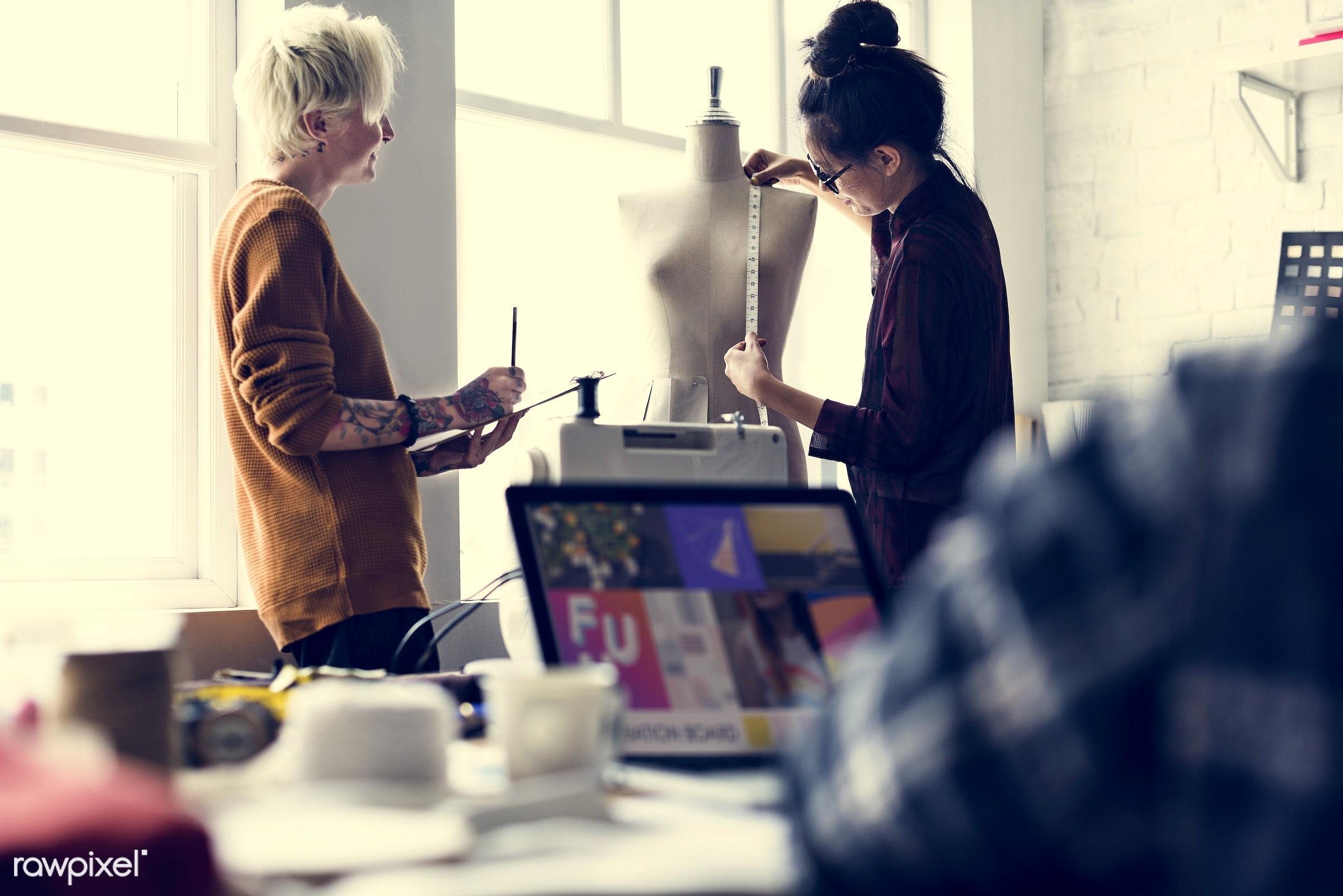 studio, fashion, craft, measure, clothing, handicraft, dressmaker, trendy, stylist, mannequin, creativity, style, cloth,...