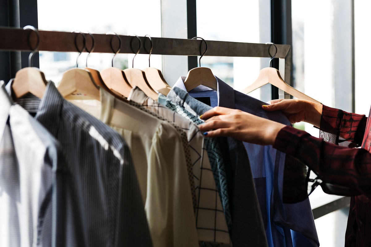 Fashion designer selecting some clothes