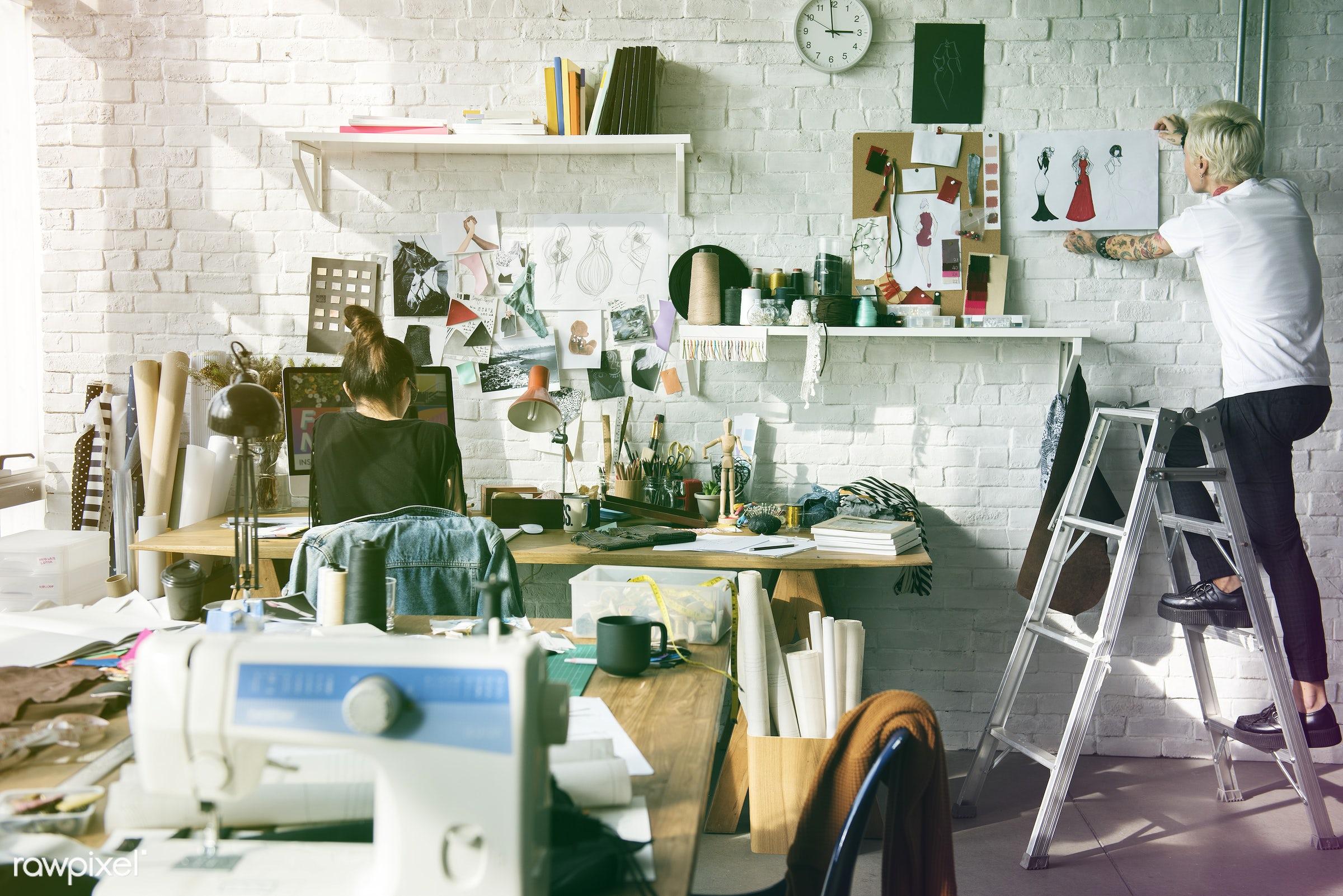 trends, sew, fashion, detail, craft, sketchboard, clothing, reminder board, sketchpad, garment, pasting, fashion studio,...