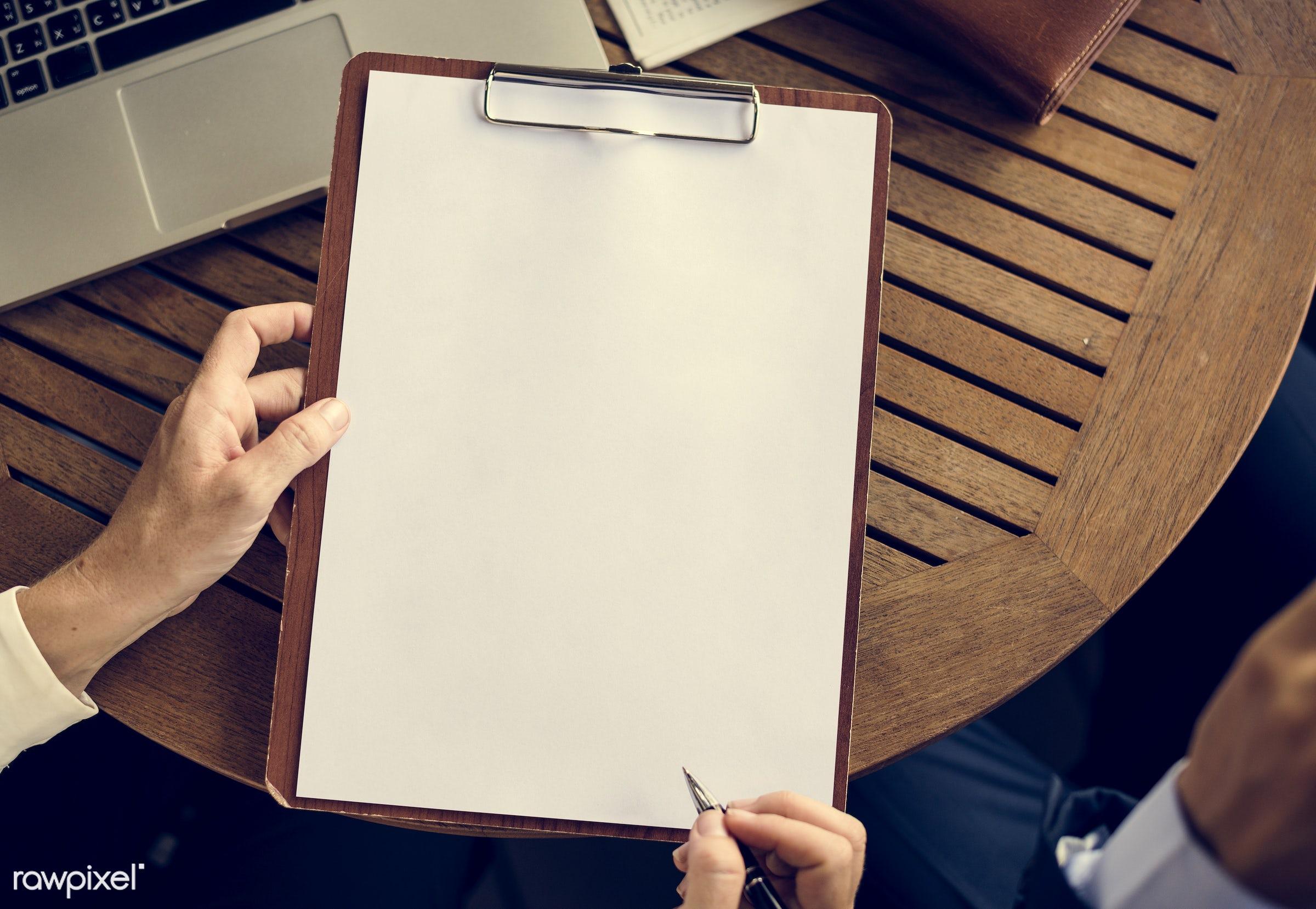 blank, blank space, board, business, businessmen, businesswomen, caucasian, clipboard, colleague, copy space, corporation,...