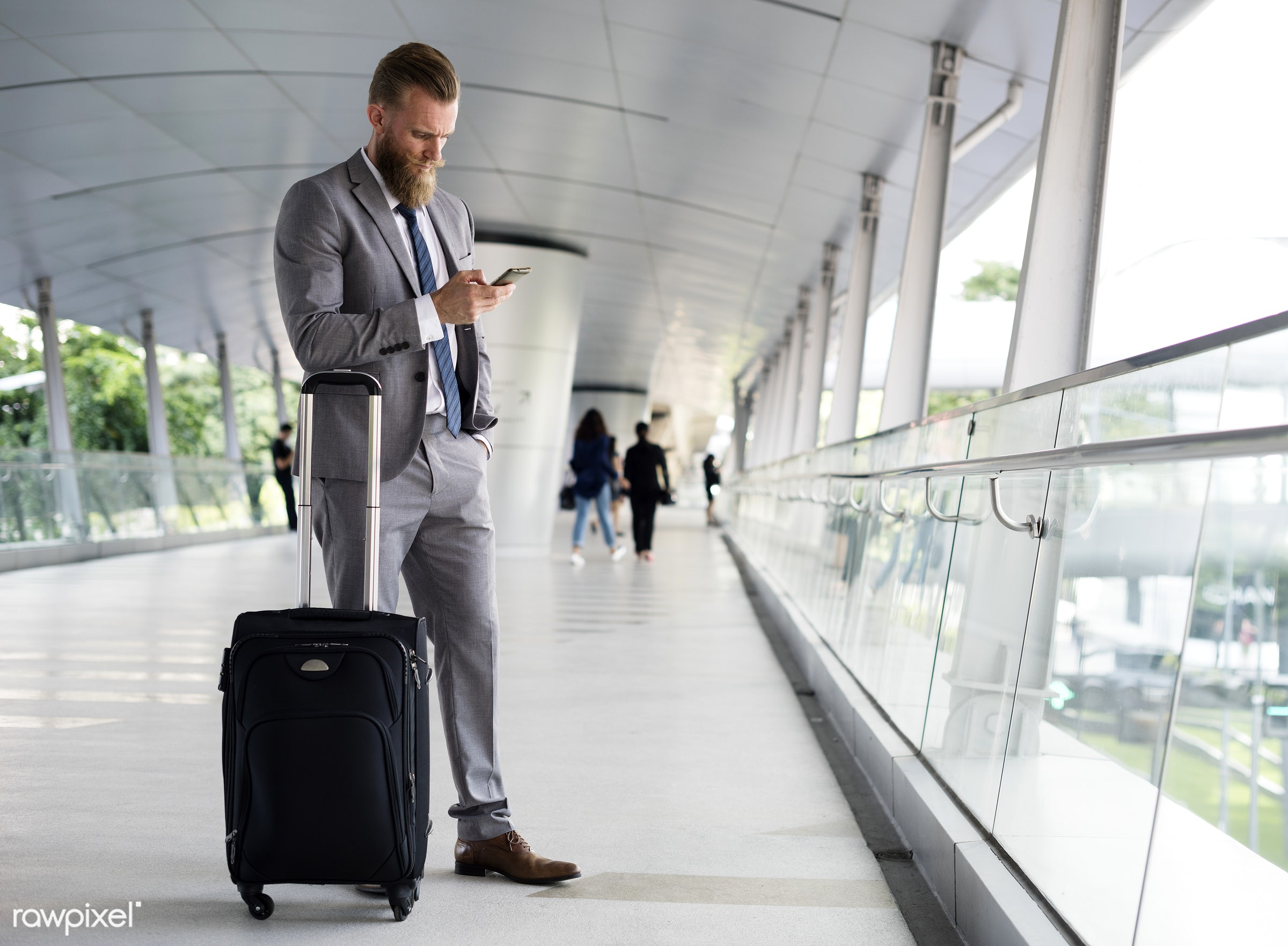 expression, business trip, update, face, call, person, phone, suit and tie, white collar worker, busy, indoors, luggage,...